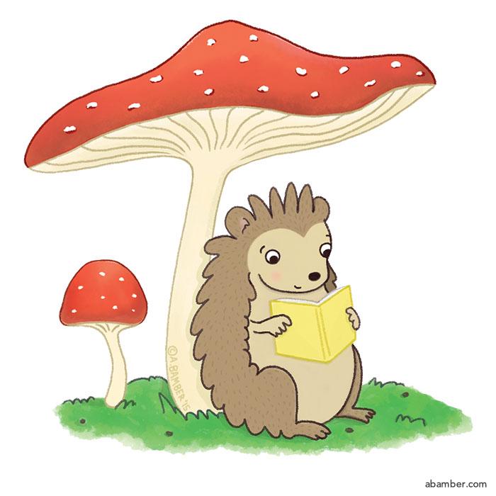 ABamber_Illustration_Mushroom Hedgehog Read More