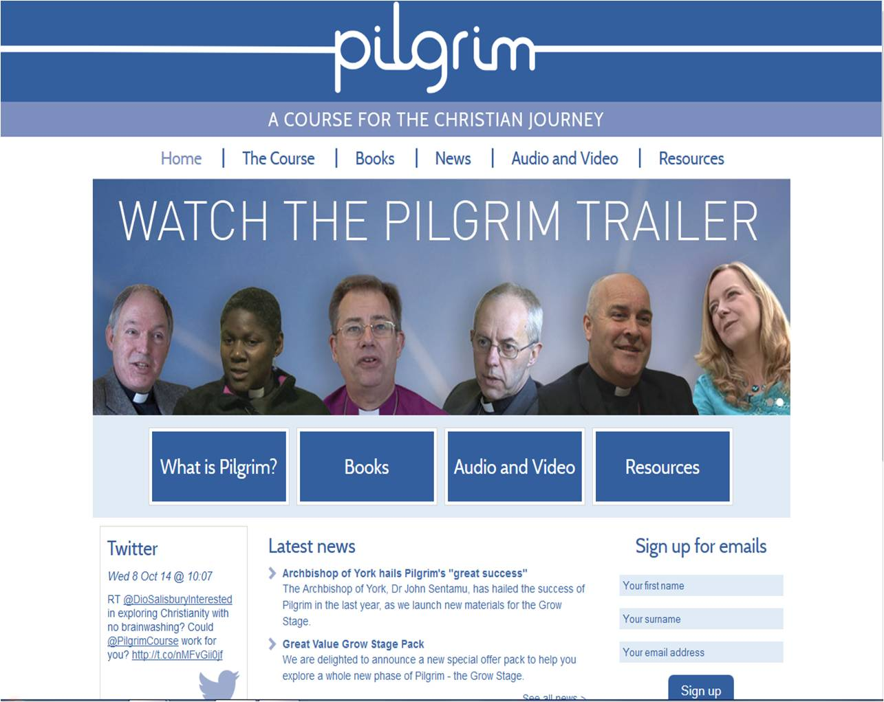 The first thing to know is that the Church of England has a great website that features all of the videos and audio resources for use with the program. You can find by clicking on this picture...