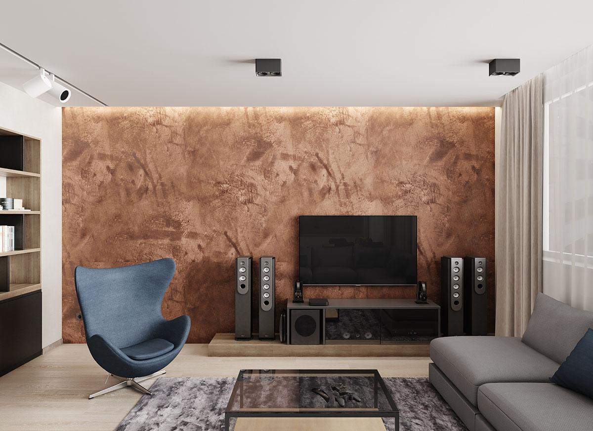 КВАРТИРА в стилеэко-минимализм - Дизайн интерьера трех-комнатной квартиры.г. КиевПлощадь - 98 кв.м