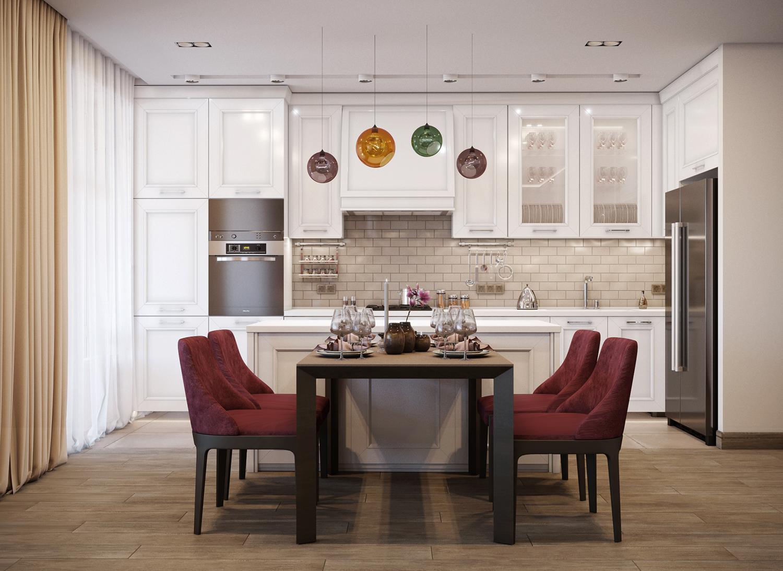 КвартираPURPLE DREAMS - Дизайн интерьера квартиры для молодой семьи.Площадь 150 кв.м