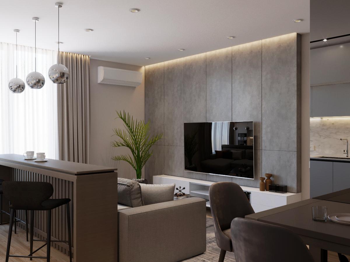 COZY LIVING - Уютная современная квартира для семьи с ребенком-школьником.ЖК