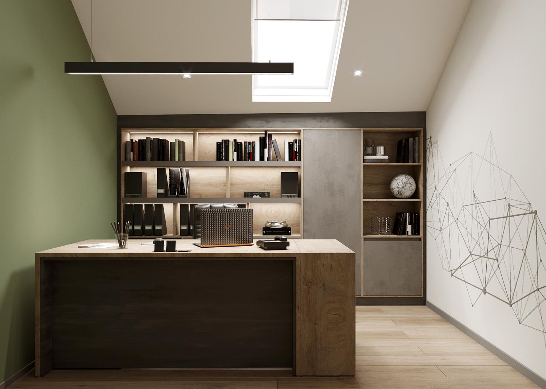 Офис на мансарде - Дизайн интерьера офисного просторанства.г. Киев