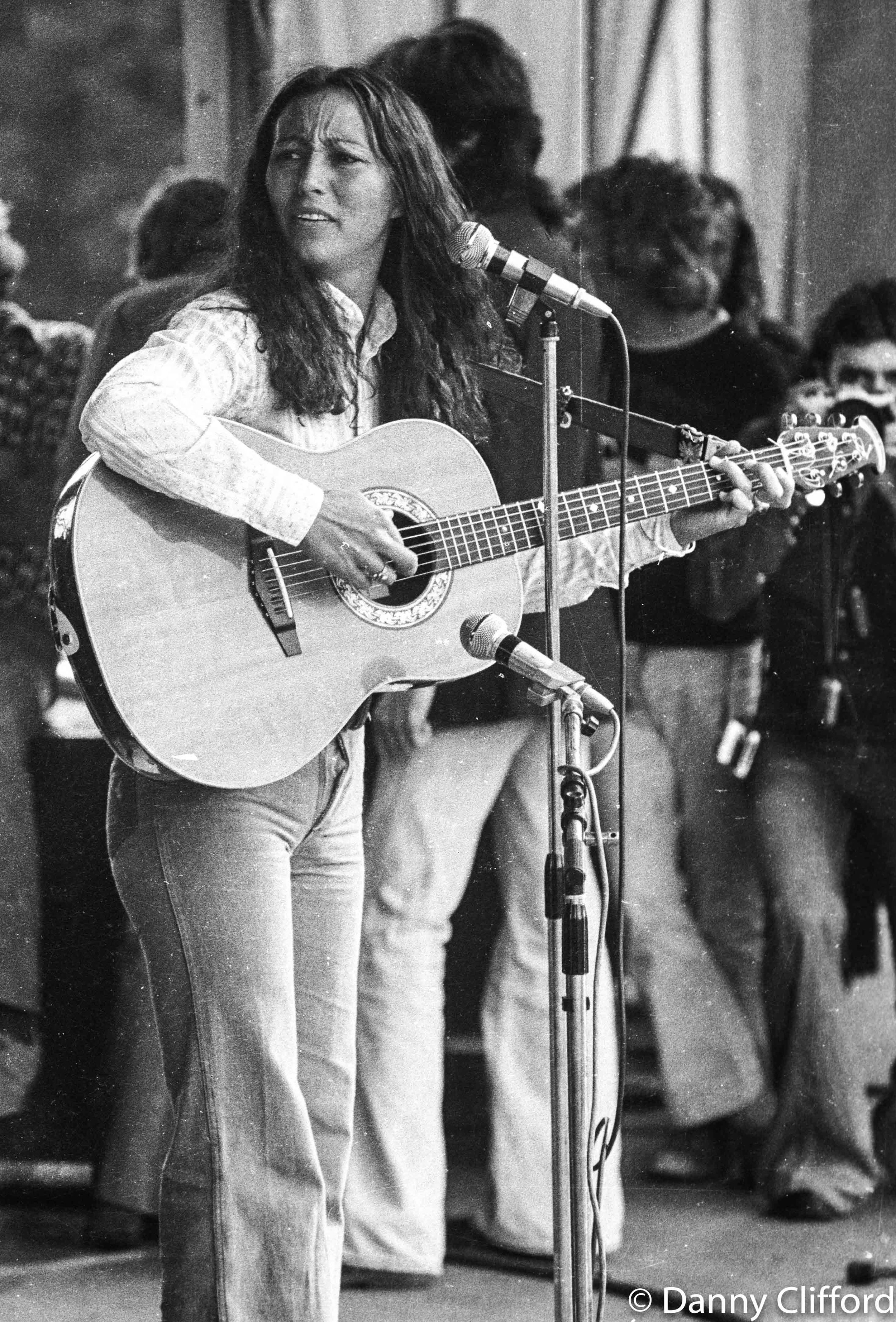 Julie performing on stage at Hyde Park, London in the mid 1970's.. I clearly remember taking this photo..