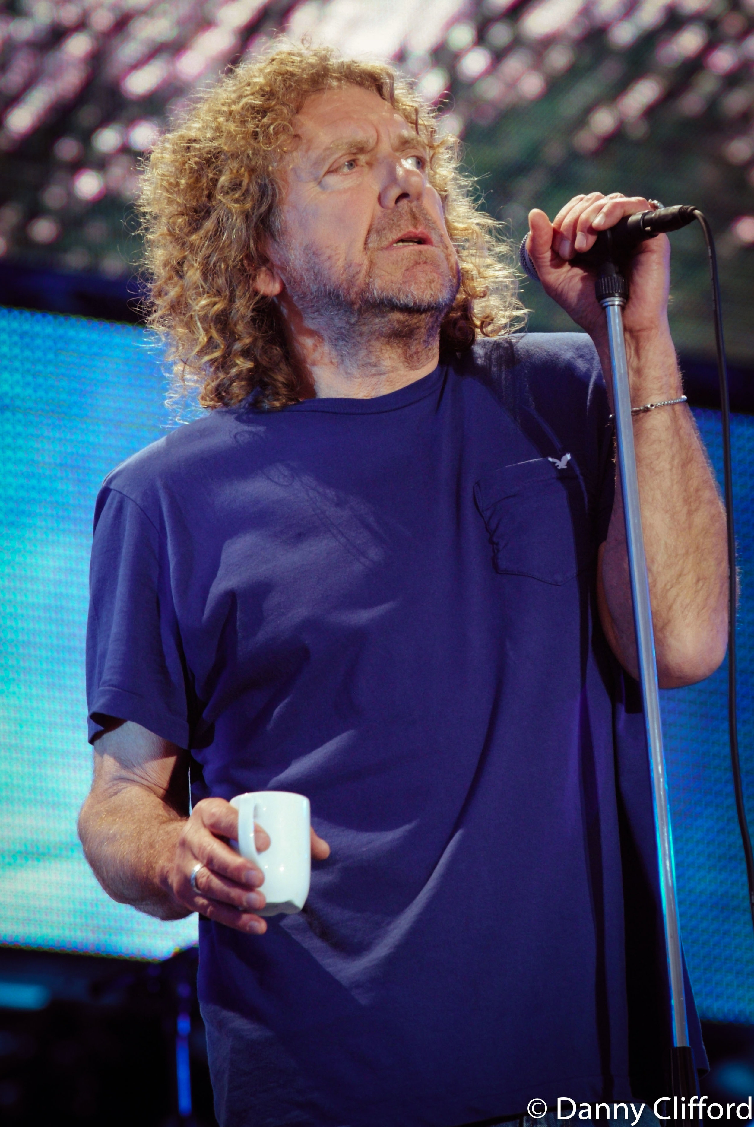 Robert Plant, during the sound check..