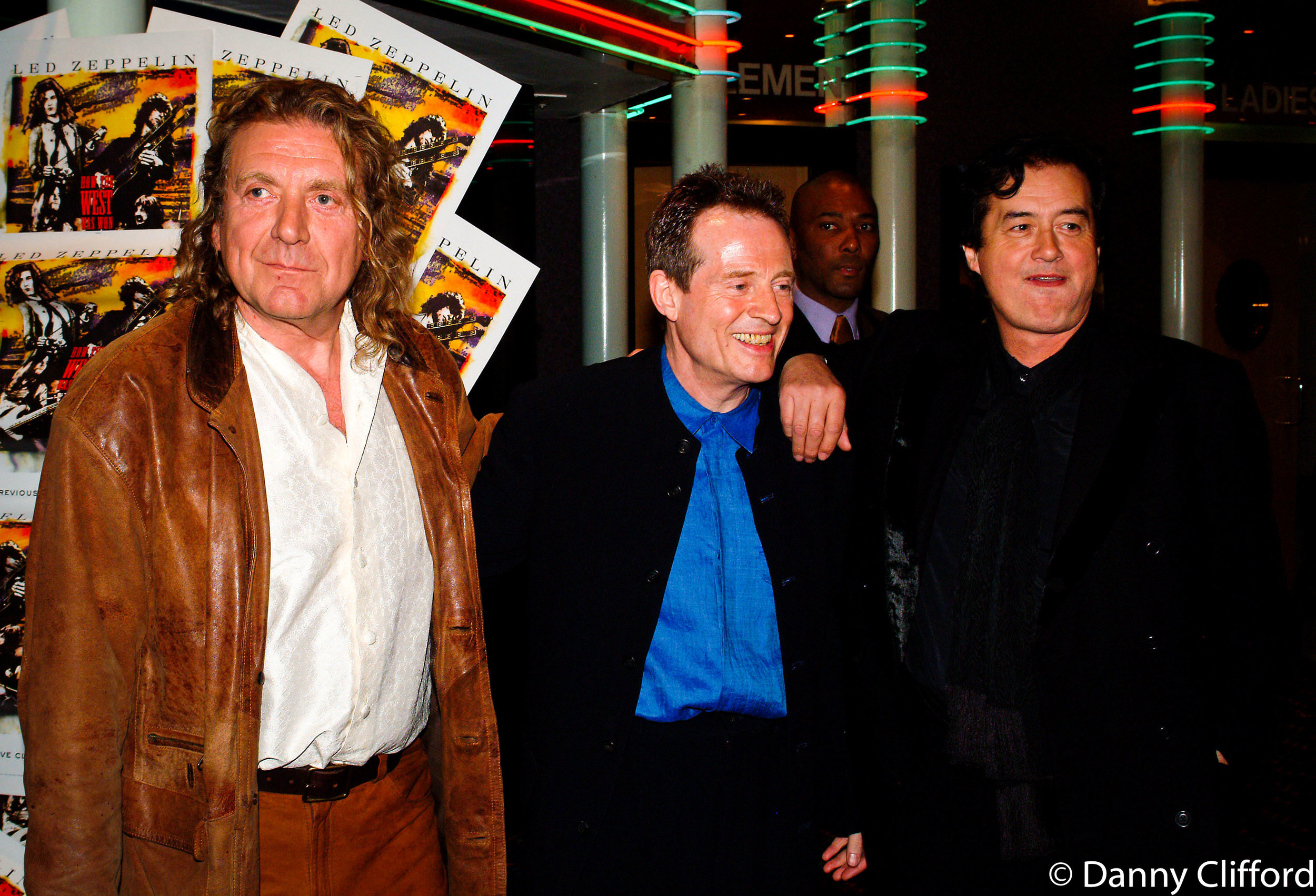 How the West Was won film premier. London. Robert Plant, John Paul Jones and Jimmy Page