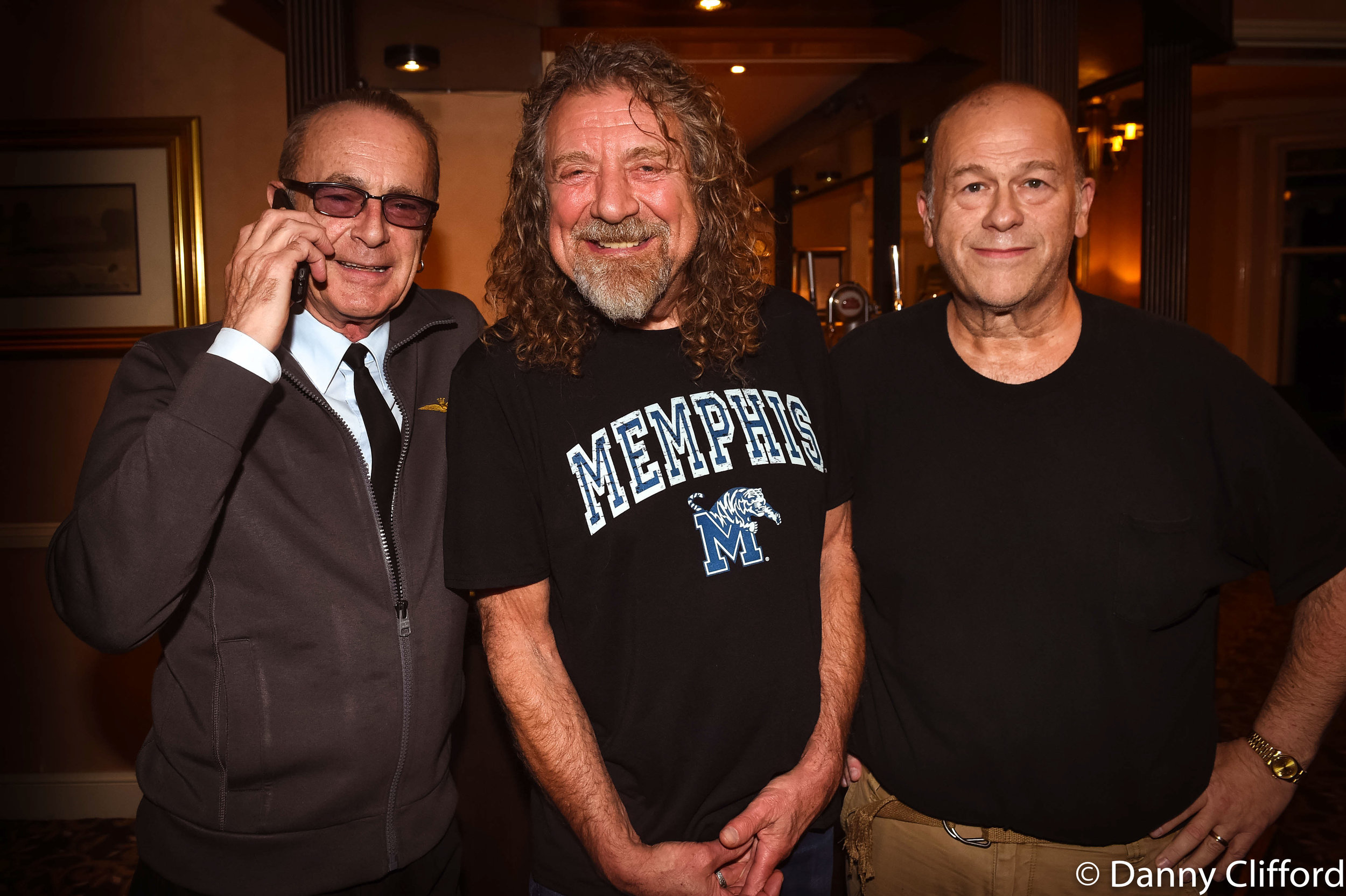 Francis Rossi, Robert Pant and me.