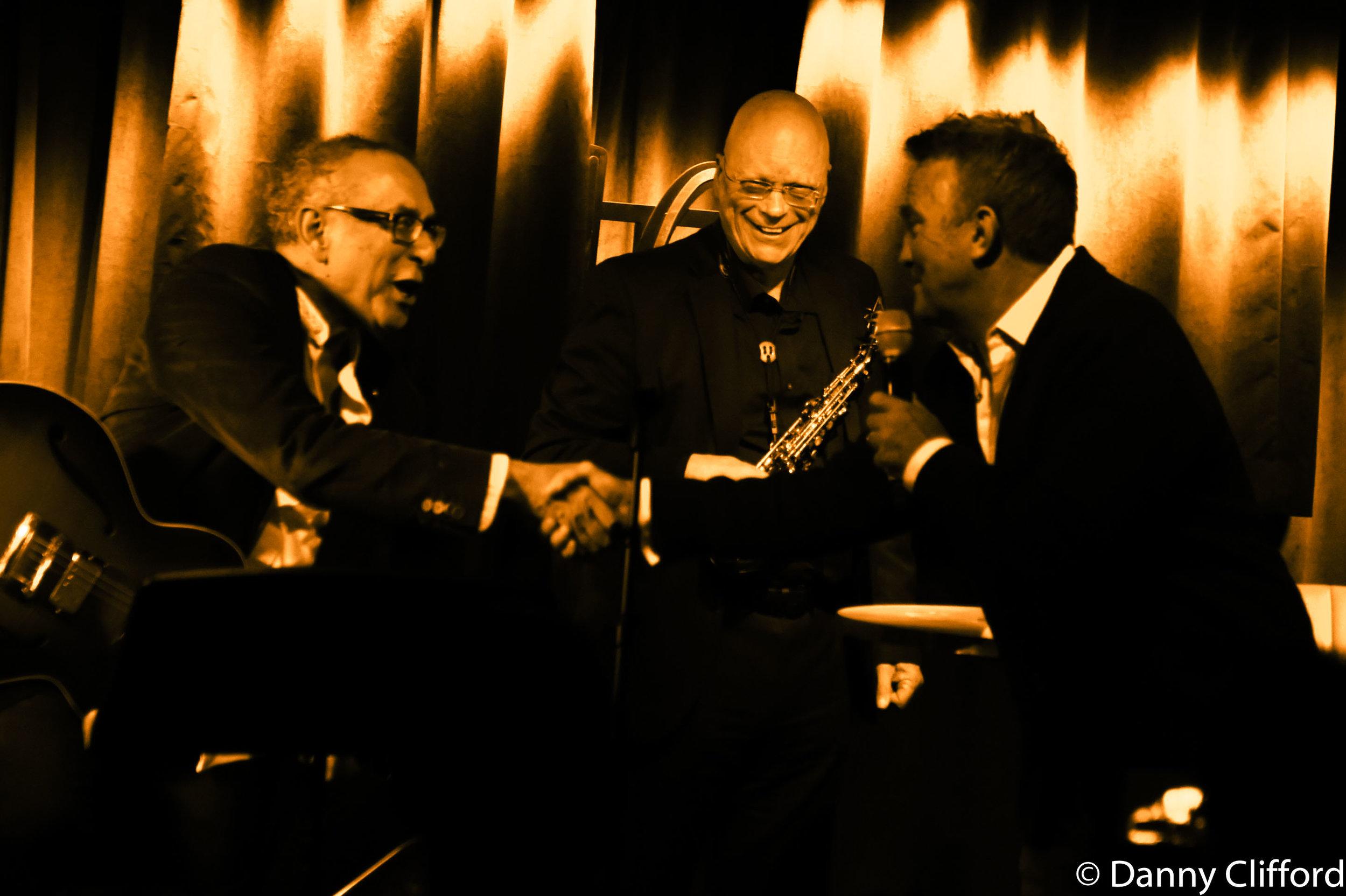 l-r Mitch Dalton, John Altman & Bradley Walsh