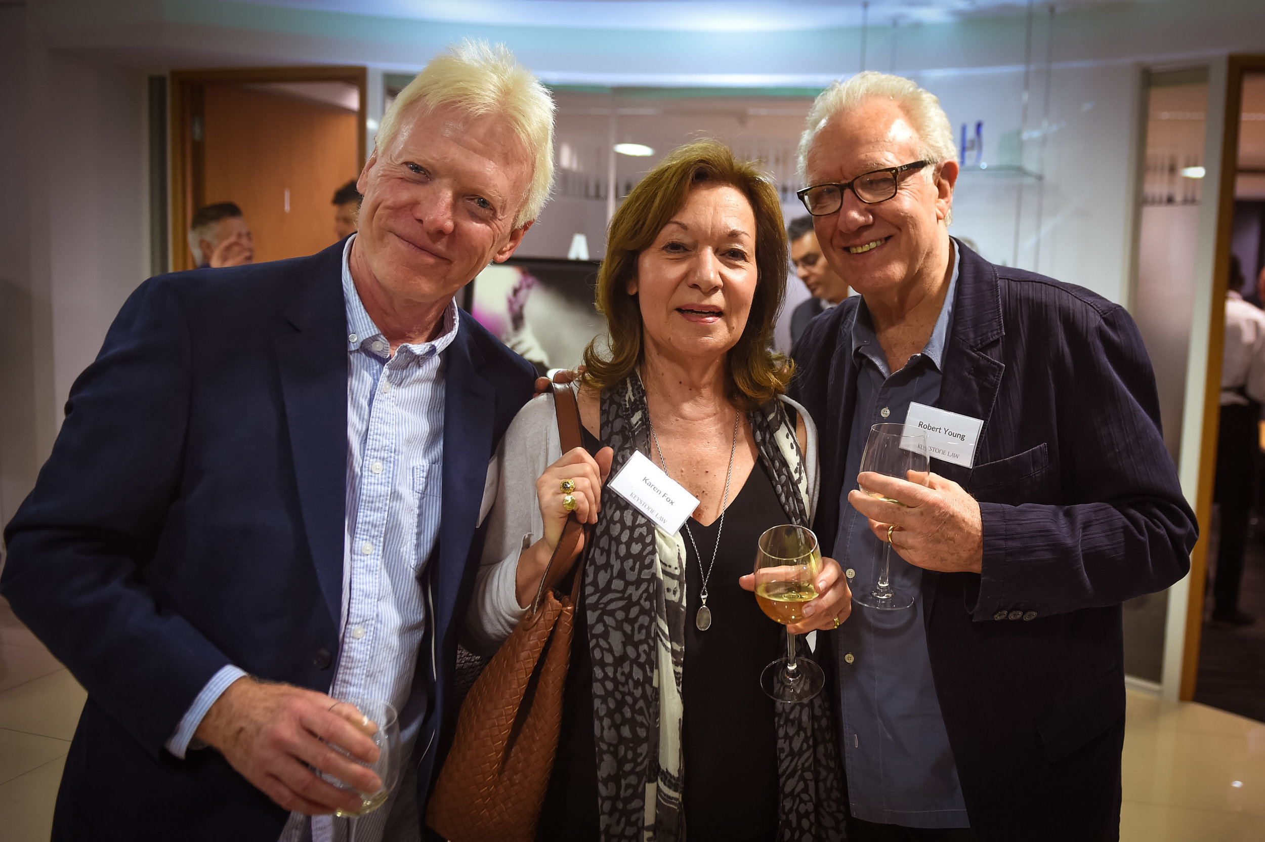 Phonogram Record's Bob Nolan, Karen Fox and the one and only Bob Young