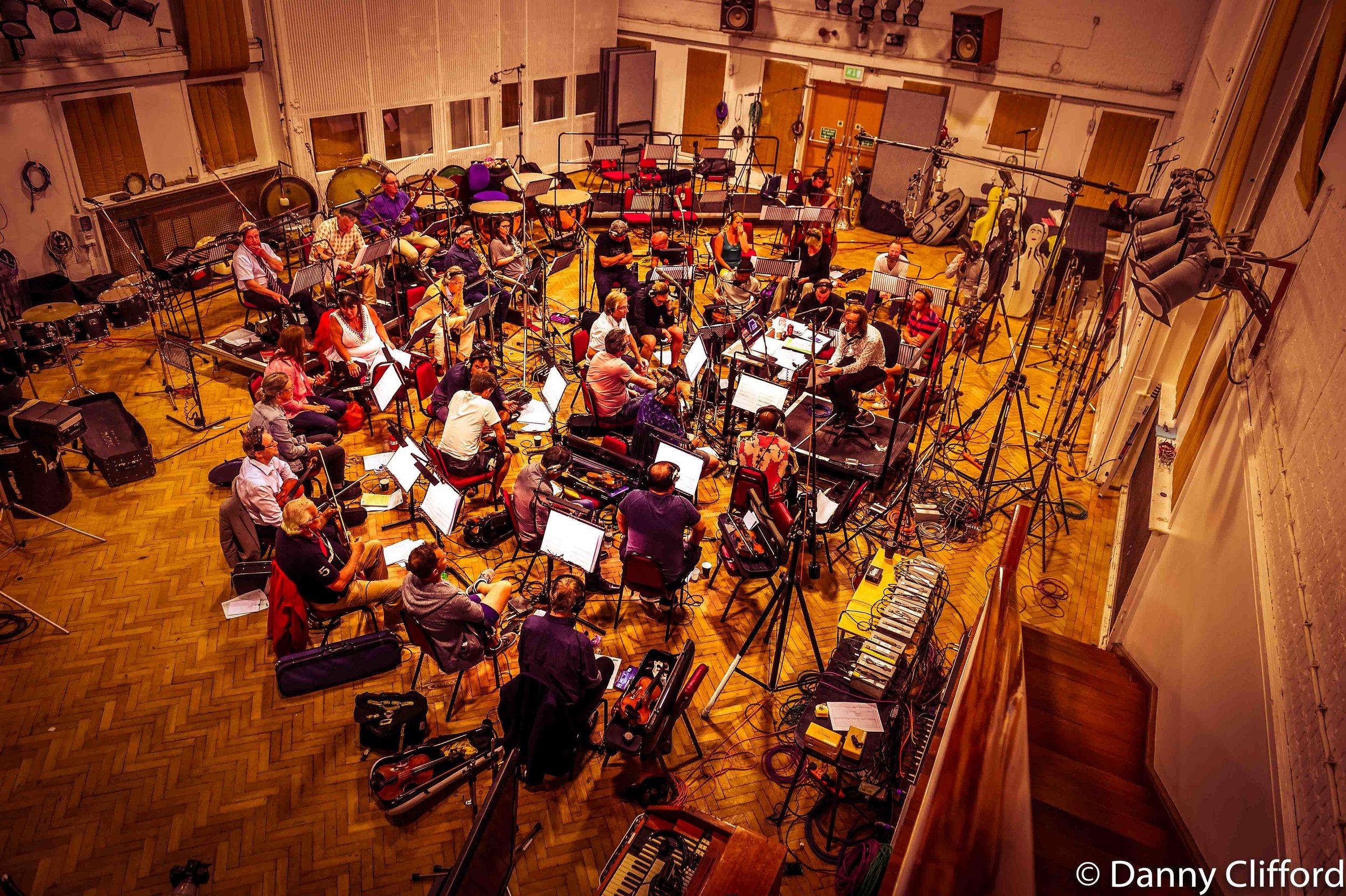 Sam conducting in Studio 2, Abbey Road Studios.