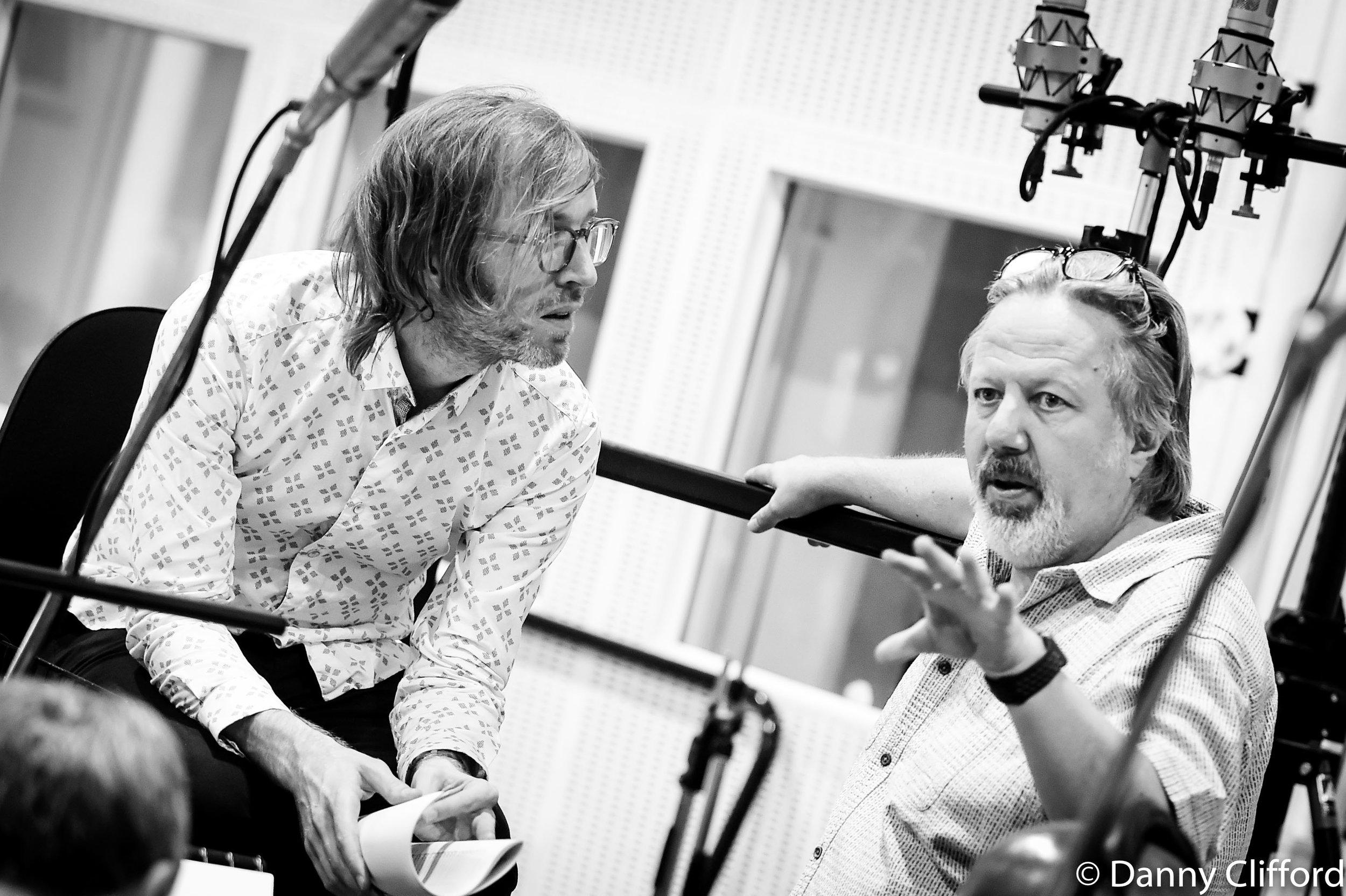Sam Swallow & Andy Wright in Studio 2, Abbey Road Studios.