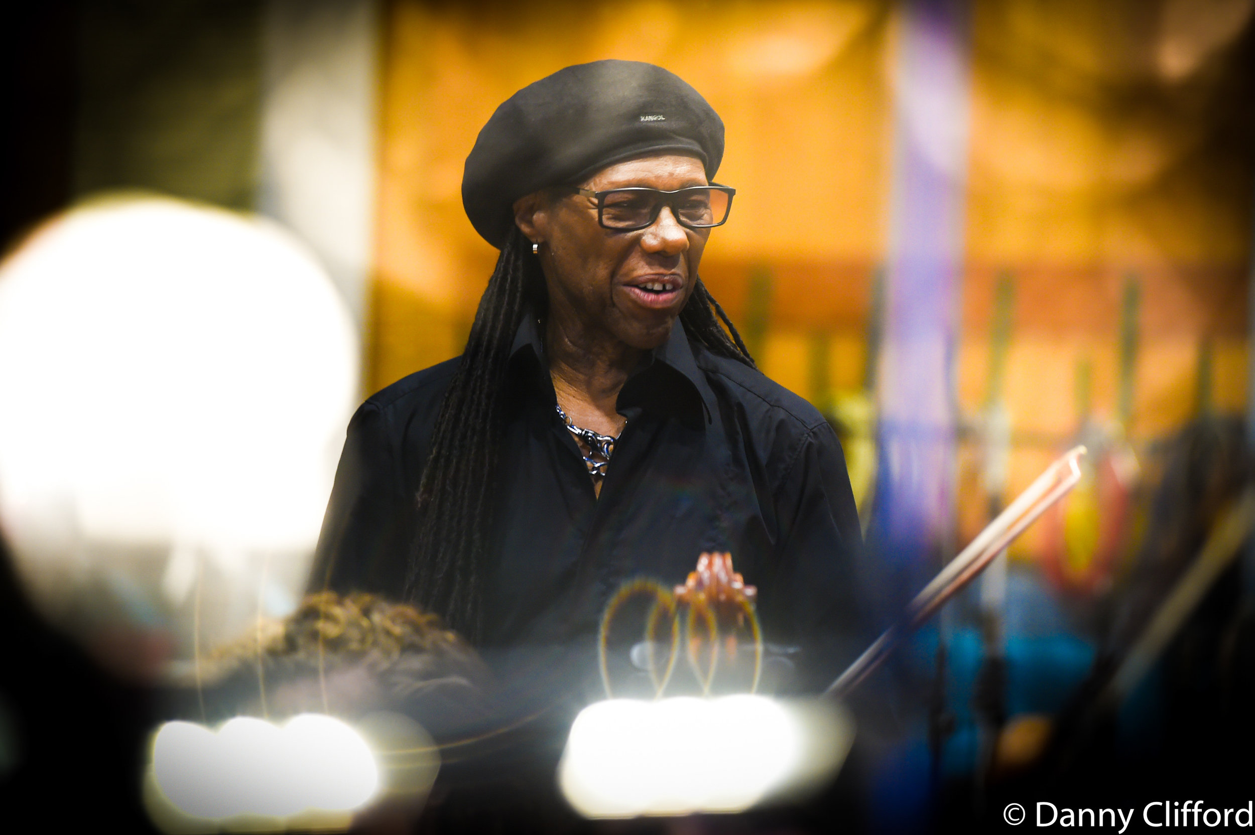 Nile Rodgers in Studio 1 during the Lets Dance, David Bowie track.