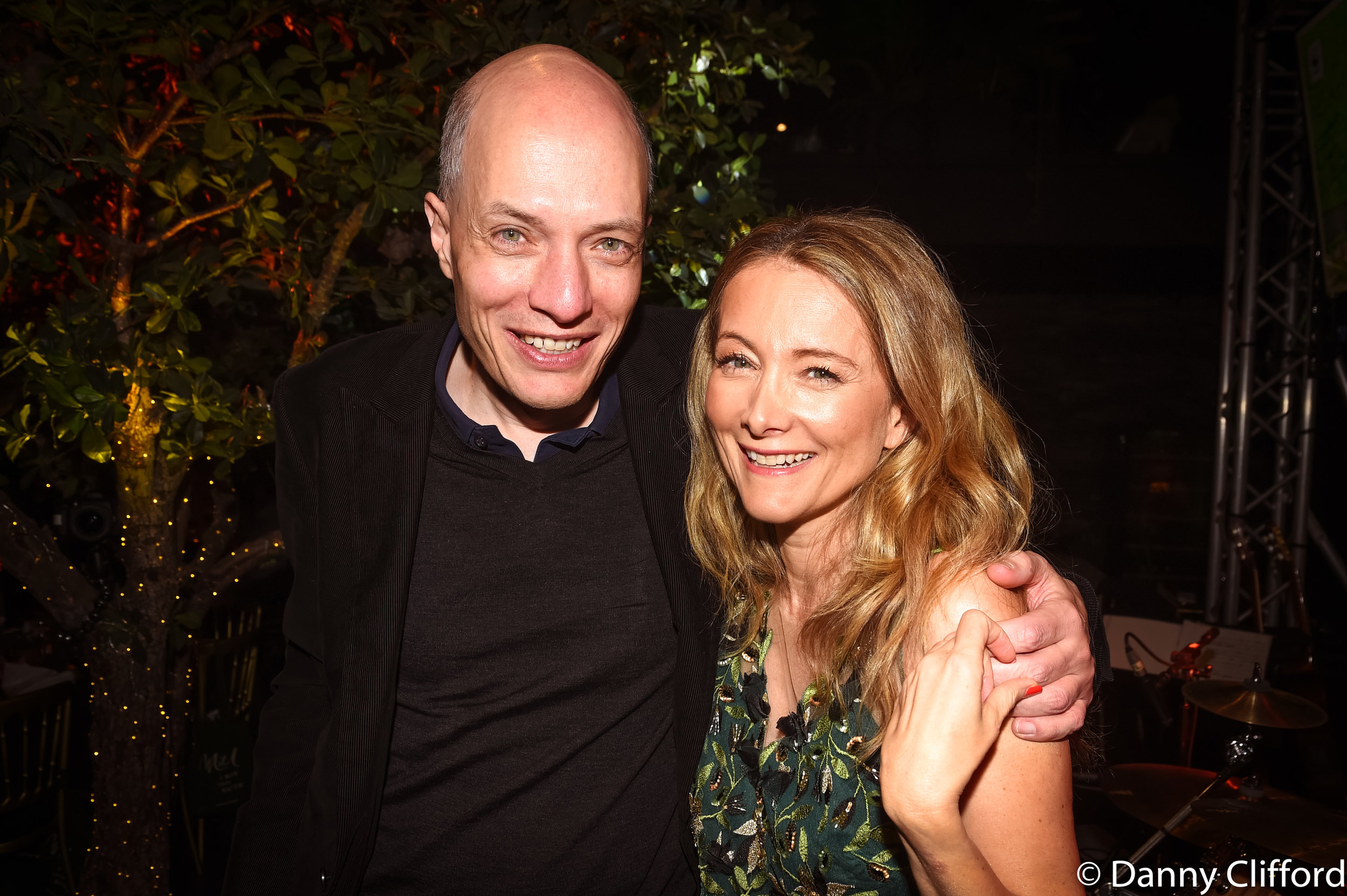 Brother & Sister! Miel with her brother, Alain de Botton after the show.