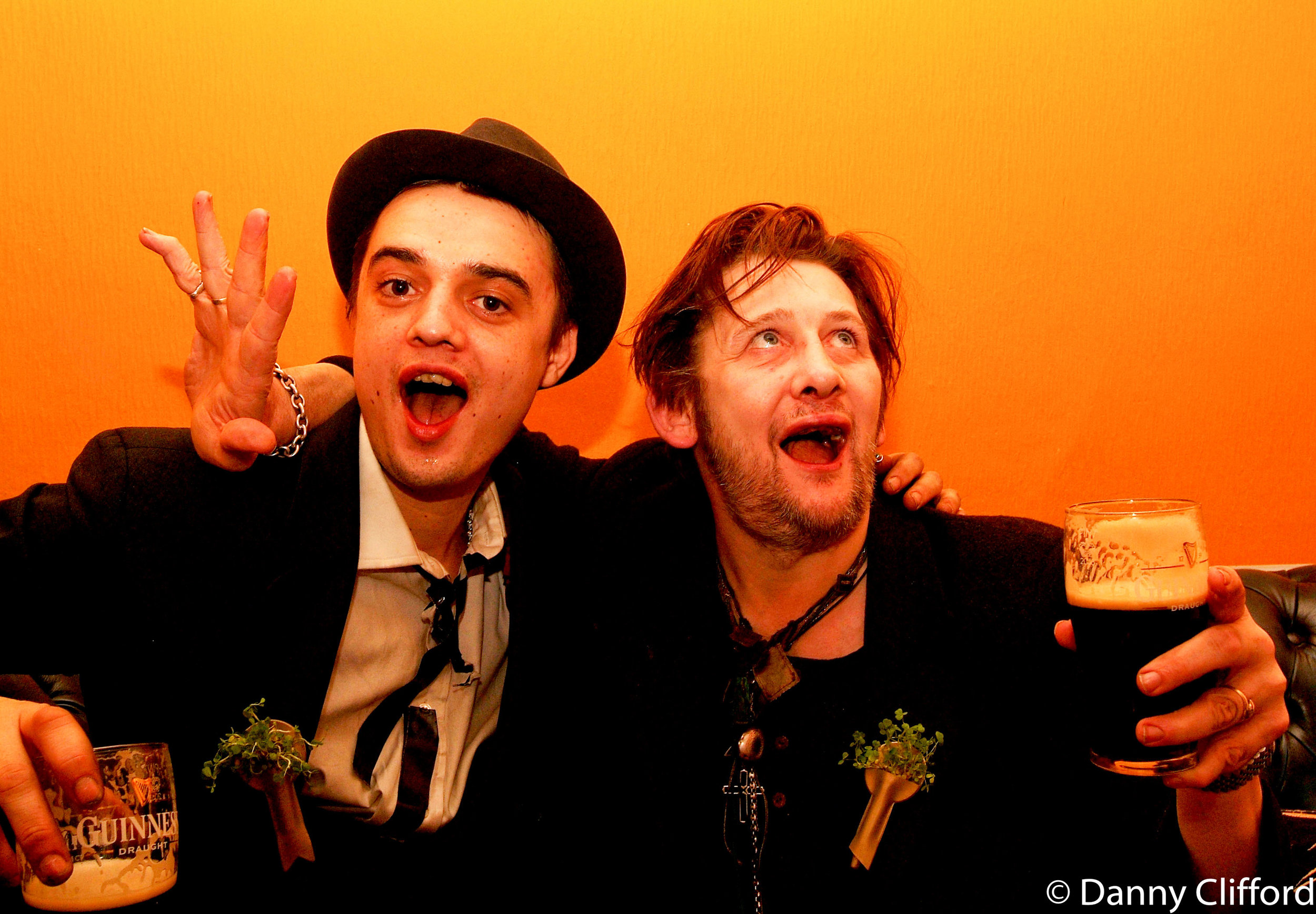 St Patrick's Day Celebrations 2005. Peter Doherty & Shane MacGowan
