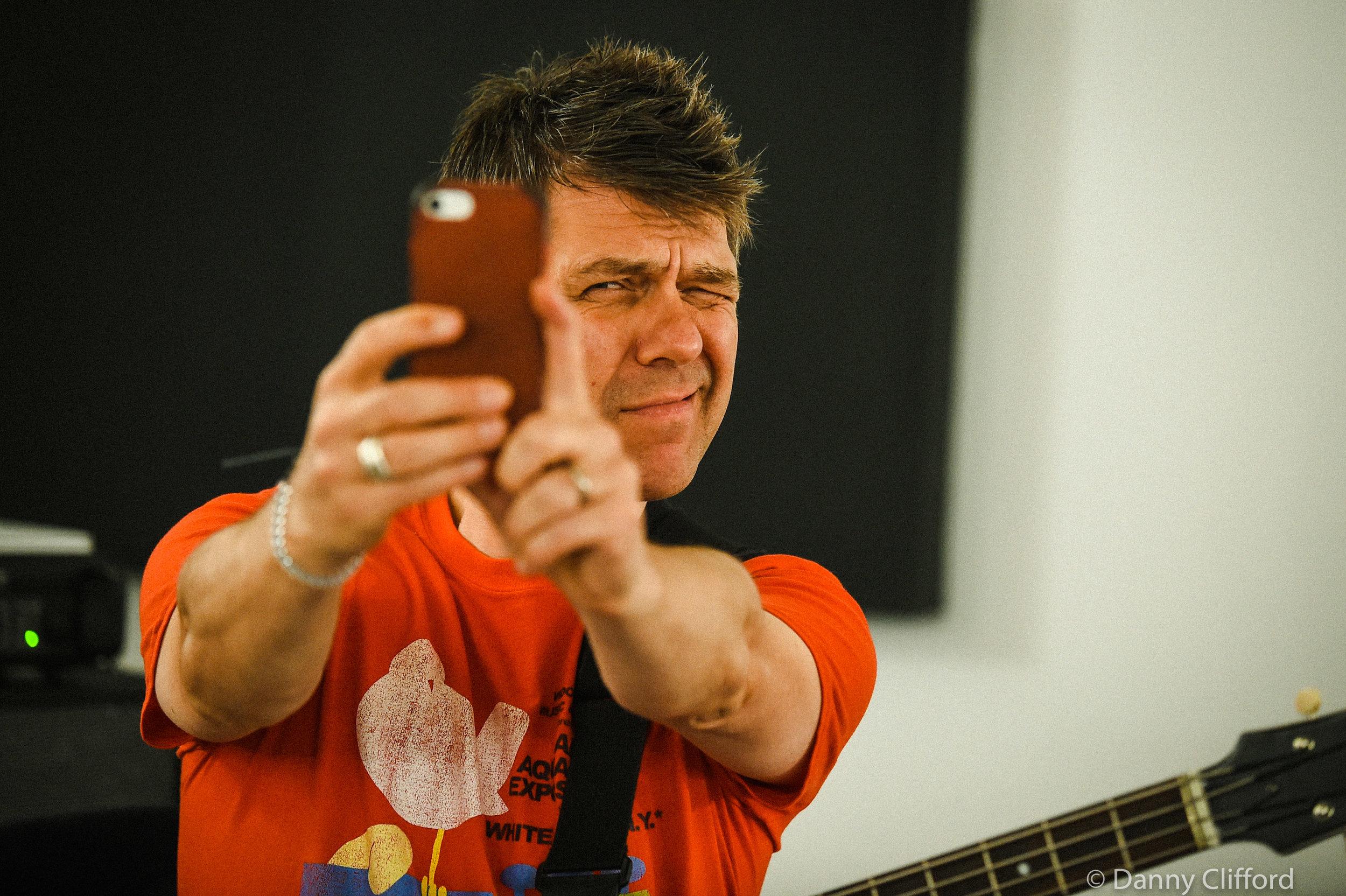 Stefan taking a picture of me? No. it was a selfie.