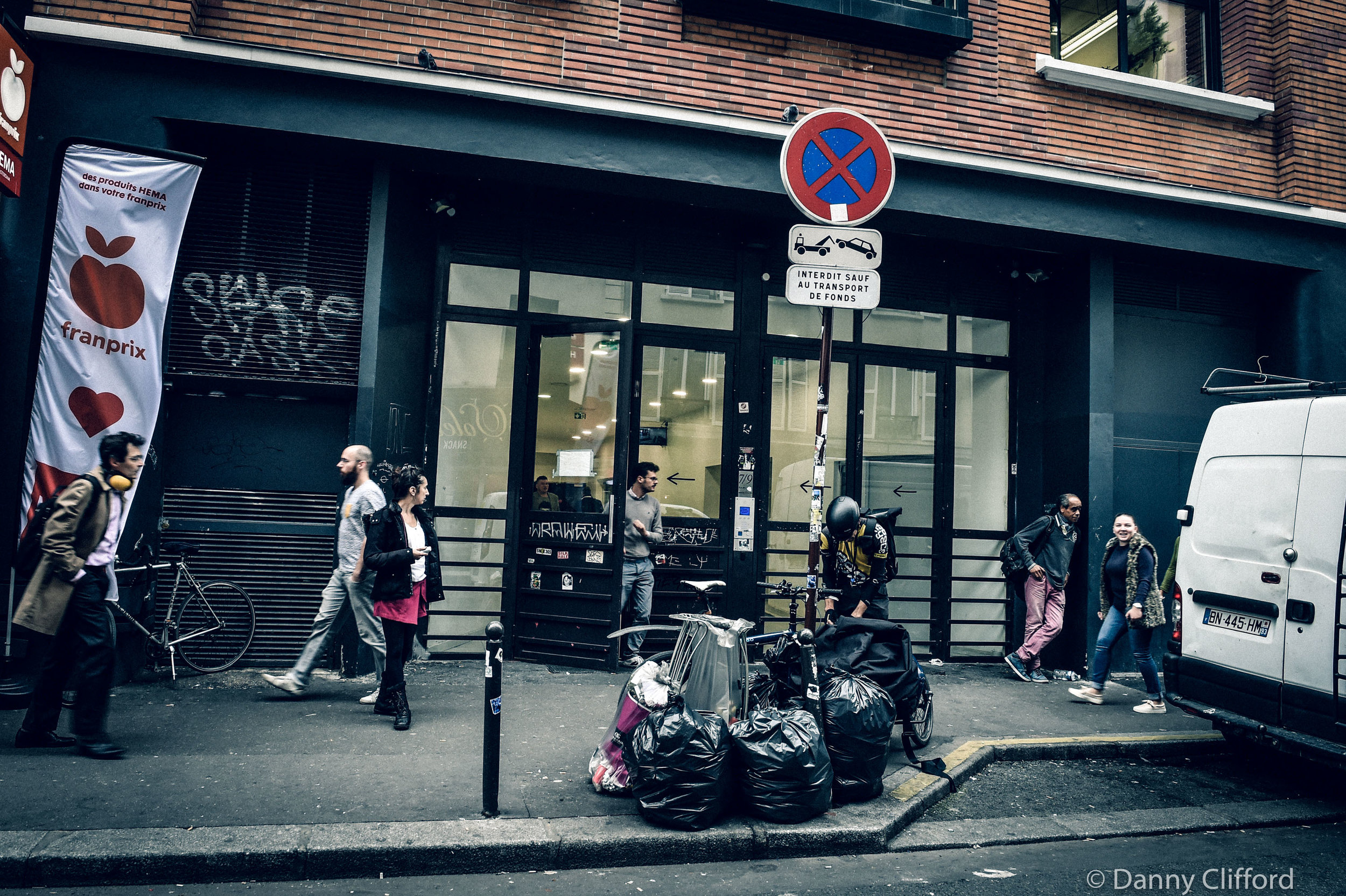 The entrance to Studio Bleu, Paris