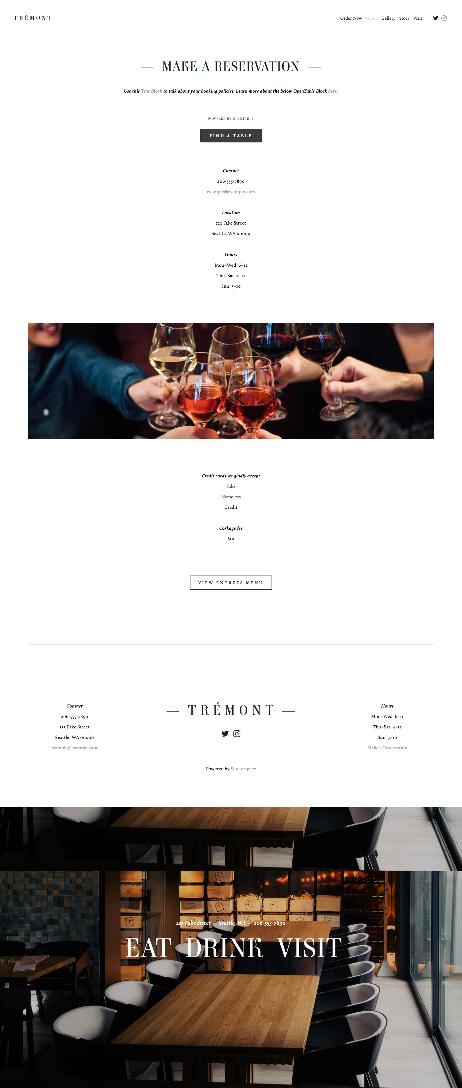 tremont-squarespace-template