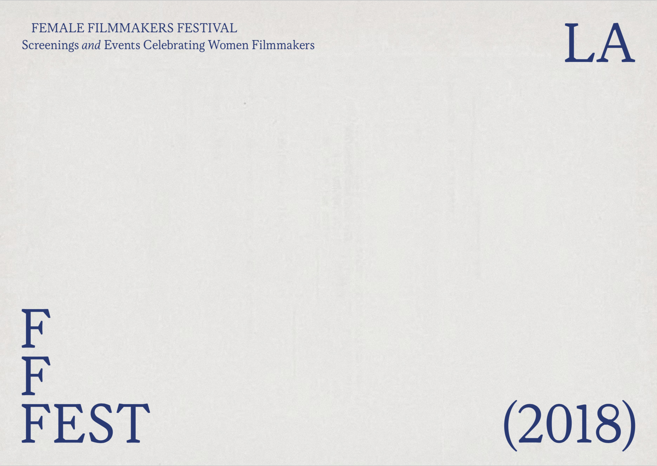 Passerbuys & Women And Film Present: Female Filmmakers Festival