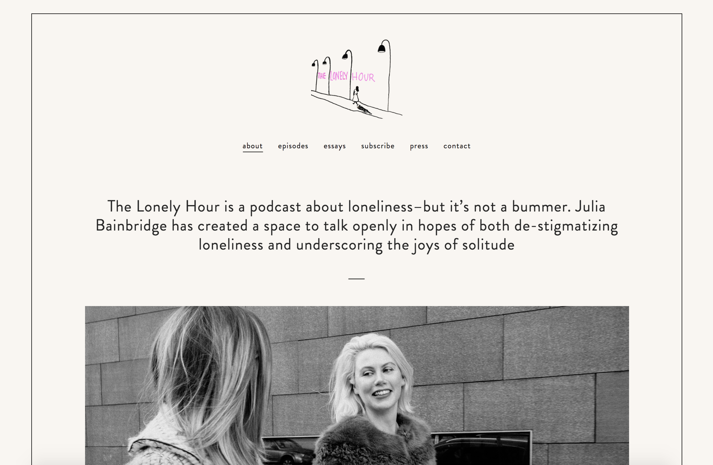 Web Design for The Lonely Hour