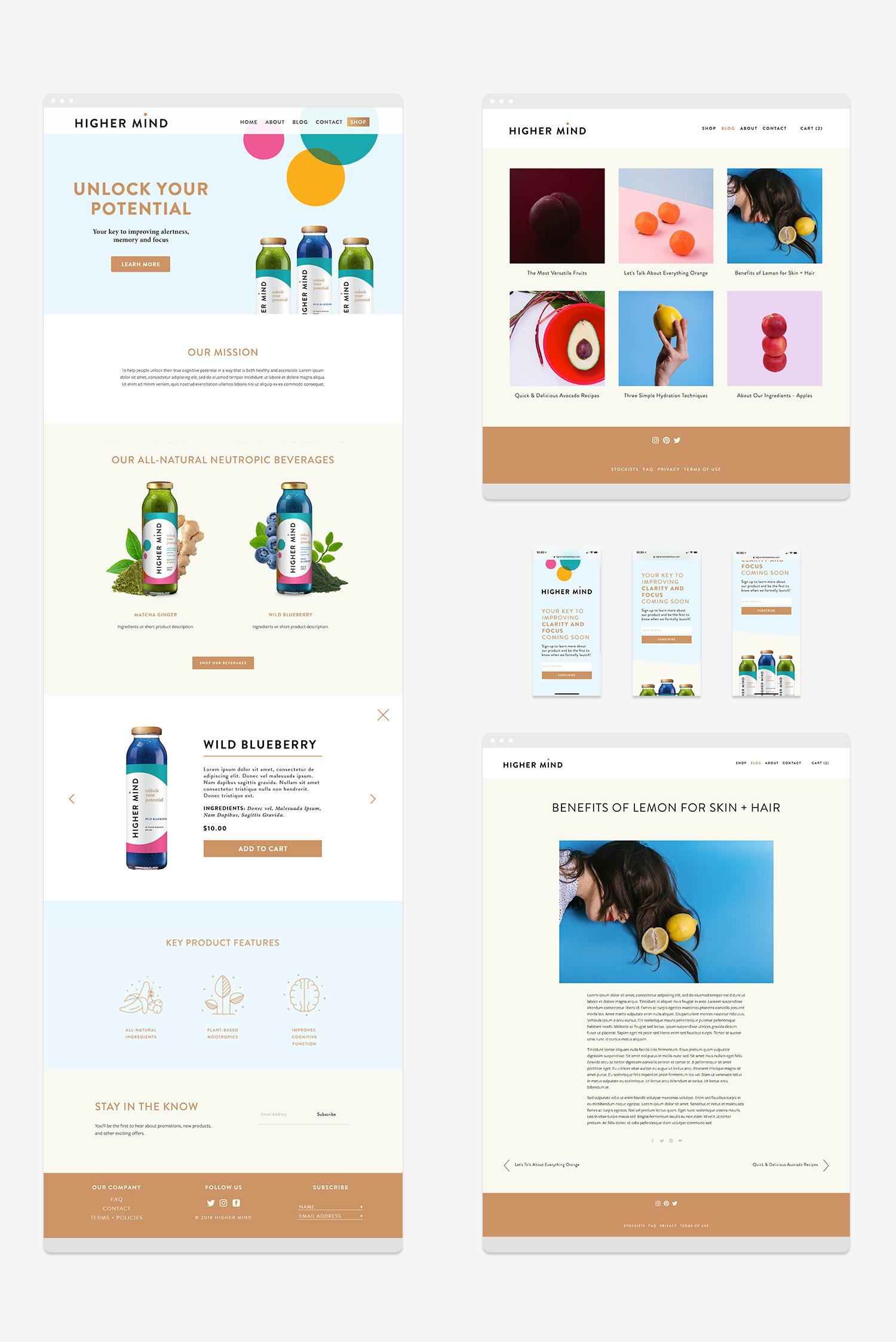 Squarespace Online Course  — Portfolio Work