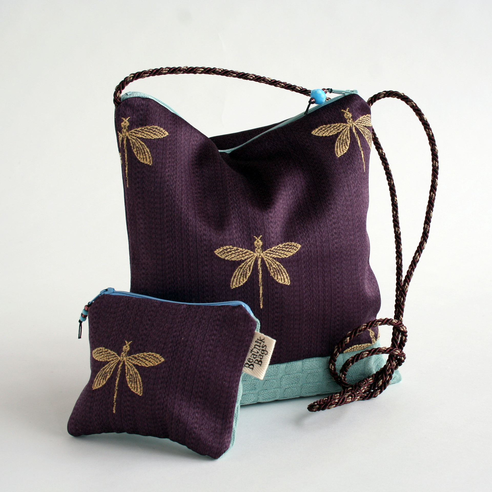 Square bag and coin purse
