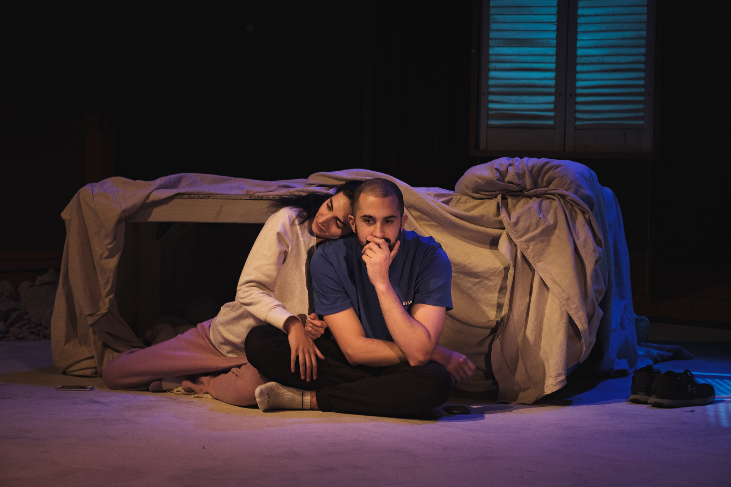 THEM  by Samah Sabawi Directed by Bagryana Popov Set & Costume Design by Lara Week Lighting Design by Shane Grant  La Mama Courthouse May 29 - June 9 2019  Photography by  Justyn Koh