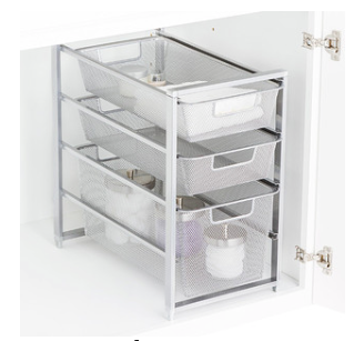 Cabinet-Sized Elfa Mesh Drawer Solution