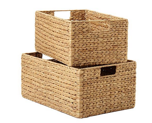 Water Hyacinth Storage Bins with Handles