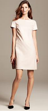 Monogram Faux-Leather Shift Dress