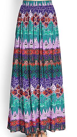 4. Maxi skirt for ocean breeze-Instagram-caught-moments. Maxi Skirt  | Forever 21
