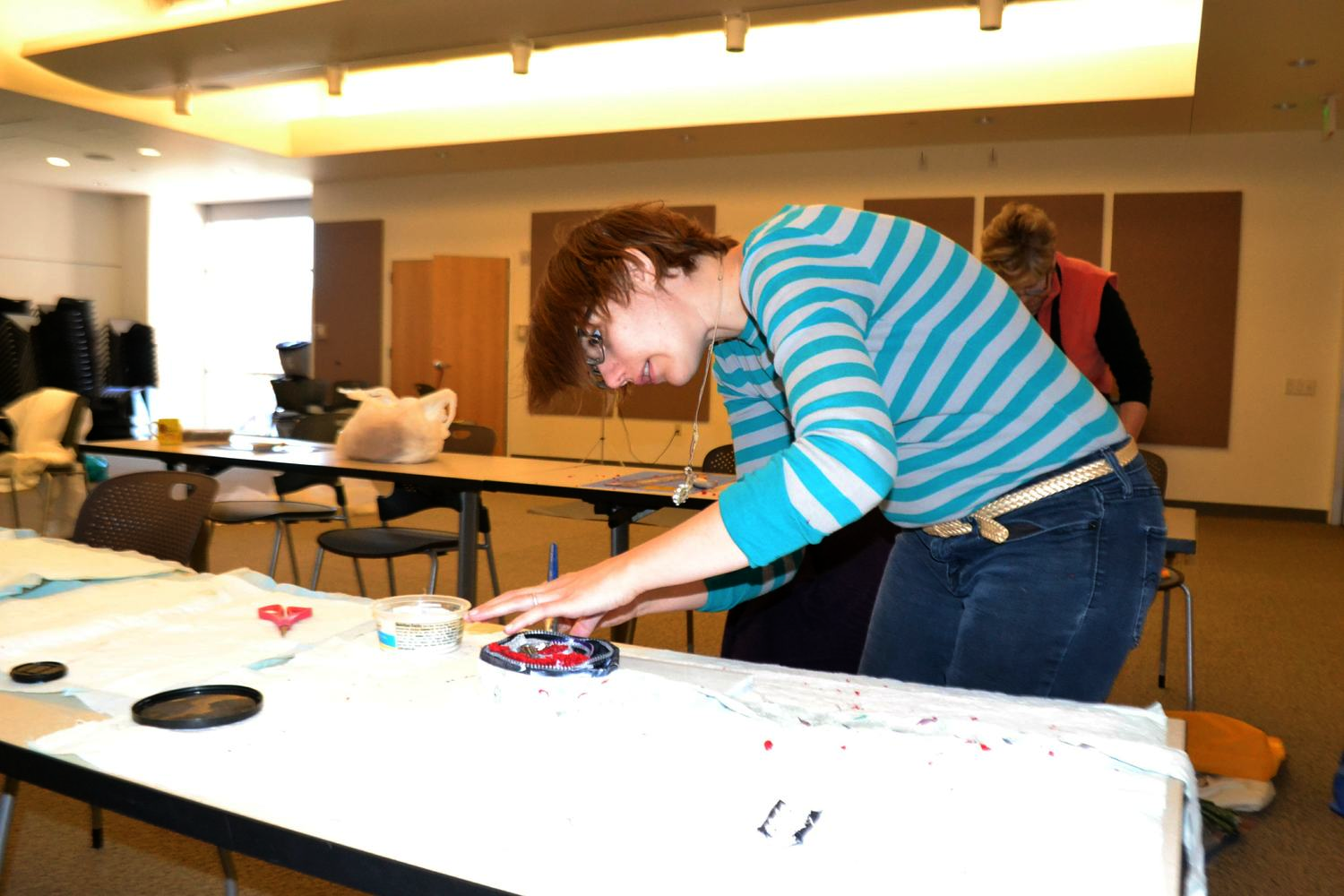And of course no workshop photo is complete without a photo of my mouth hanging open in concentration.
