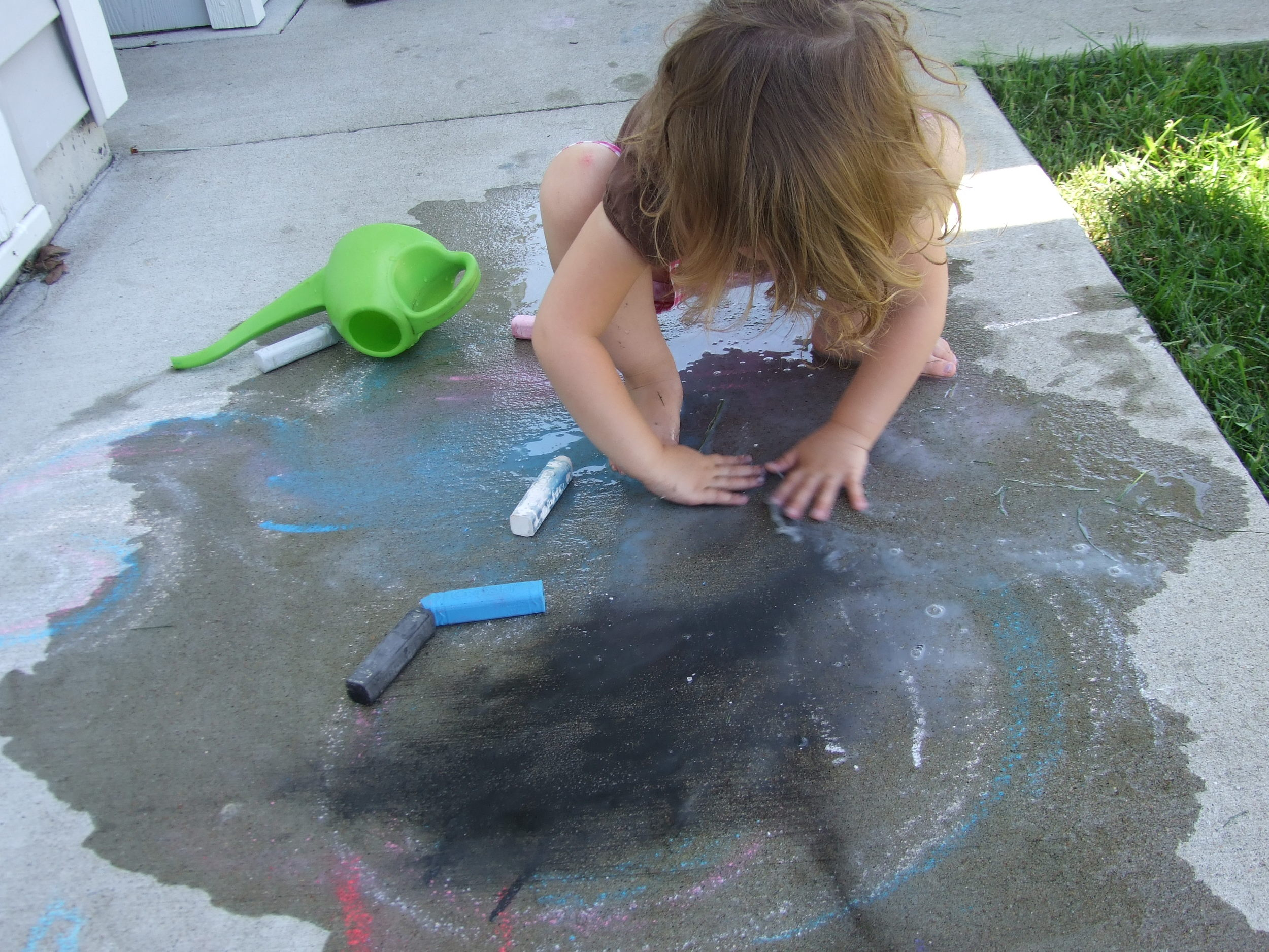 Water always helps with the chalk expression.