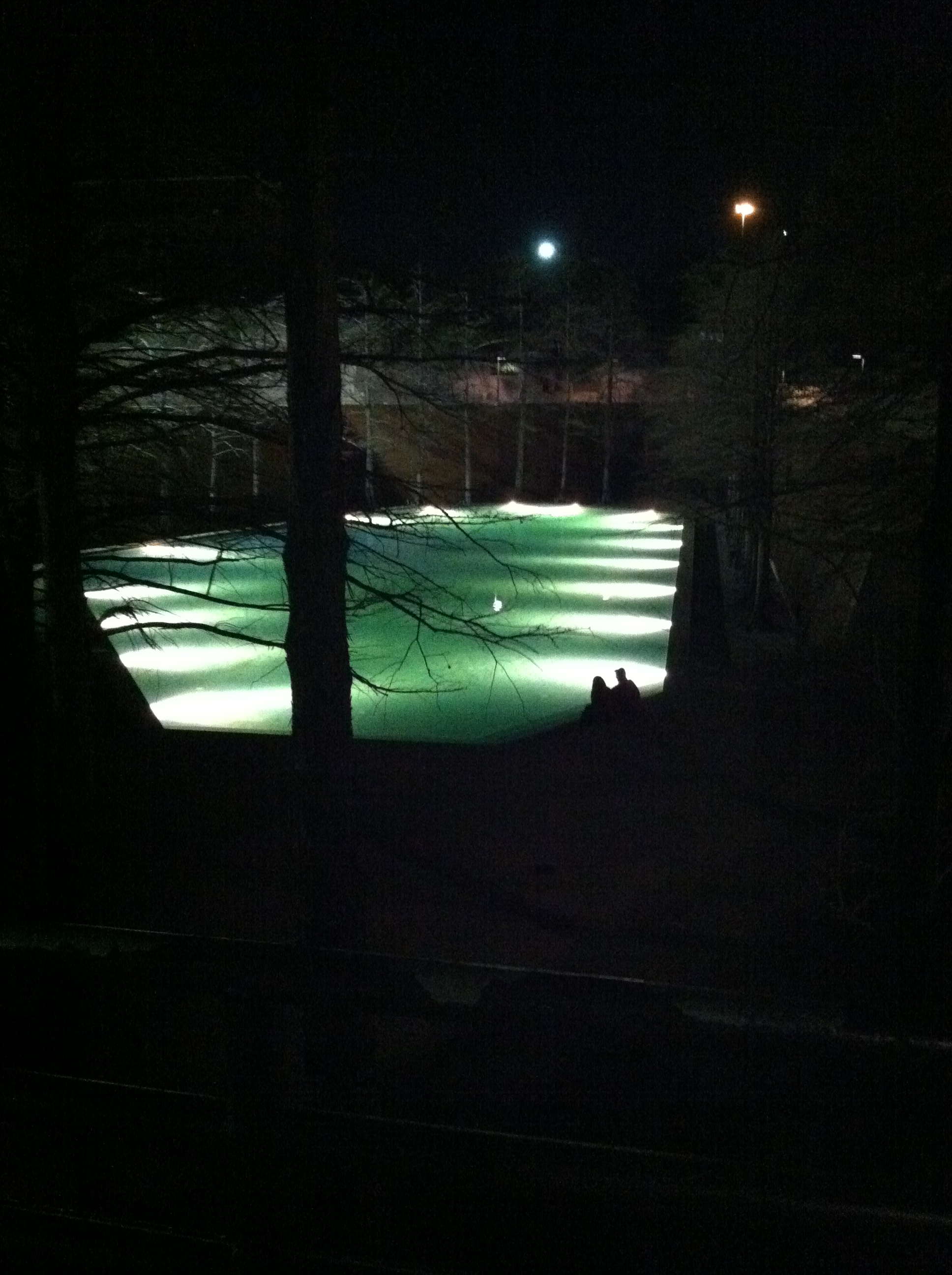 The Water Gardens at night are epic. Especially the quiet pool.