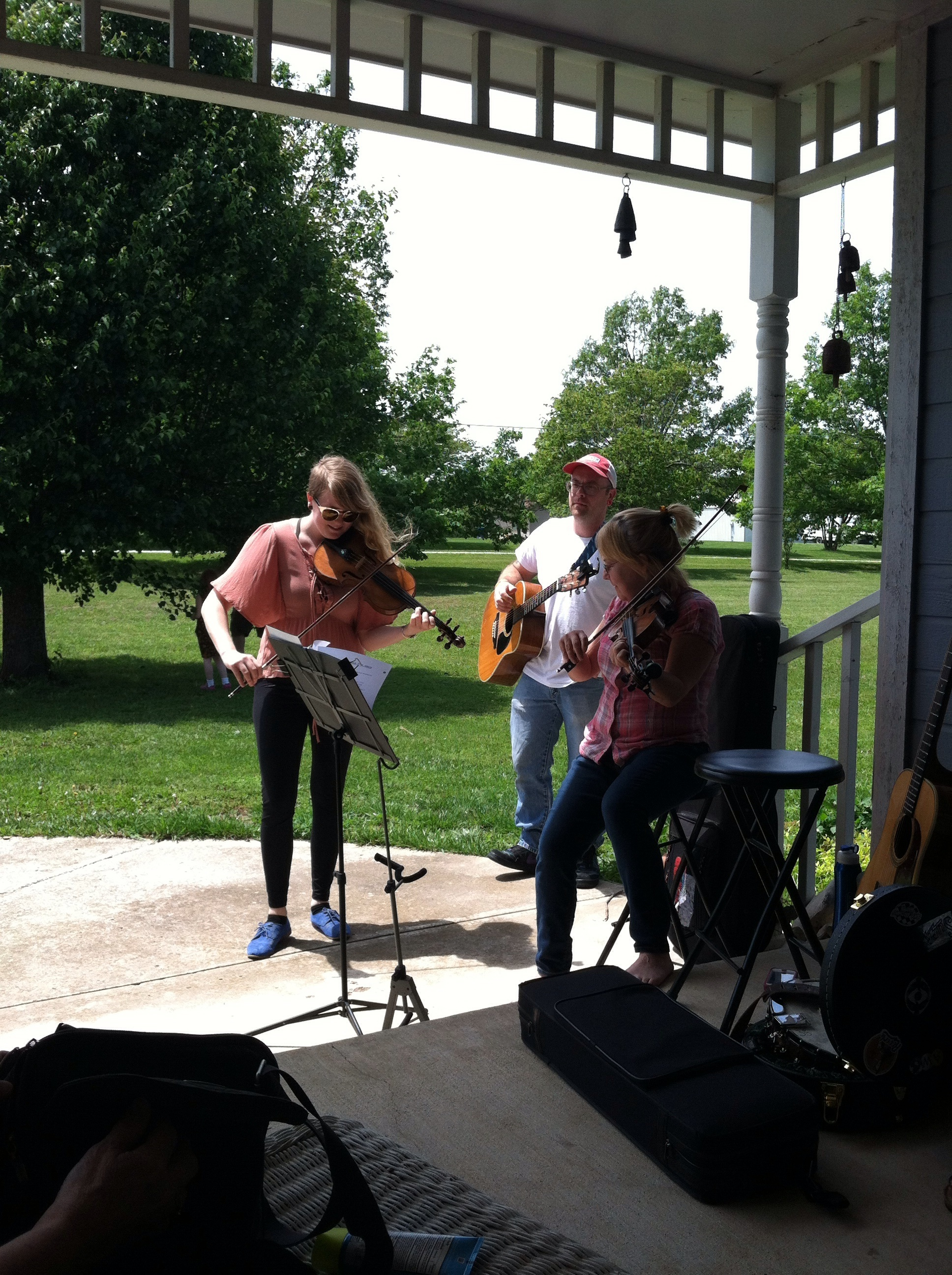 We were greeted by fun folk music.