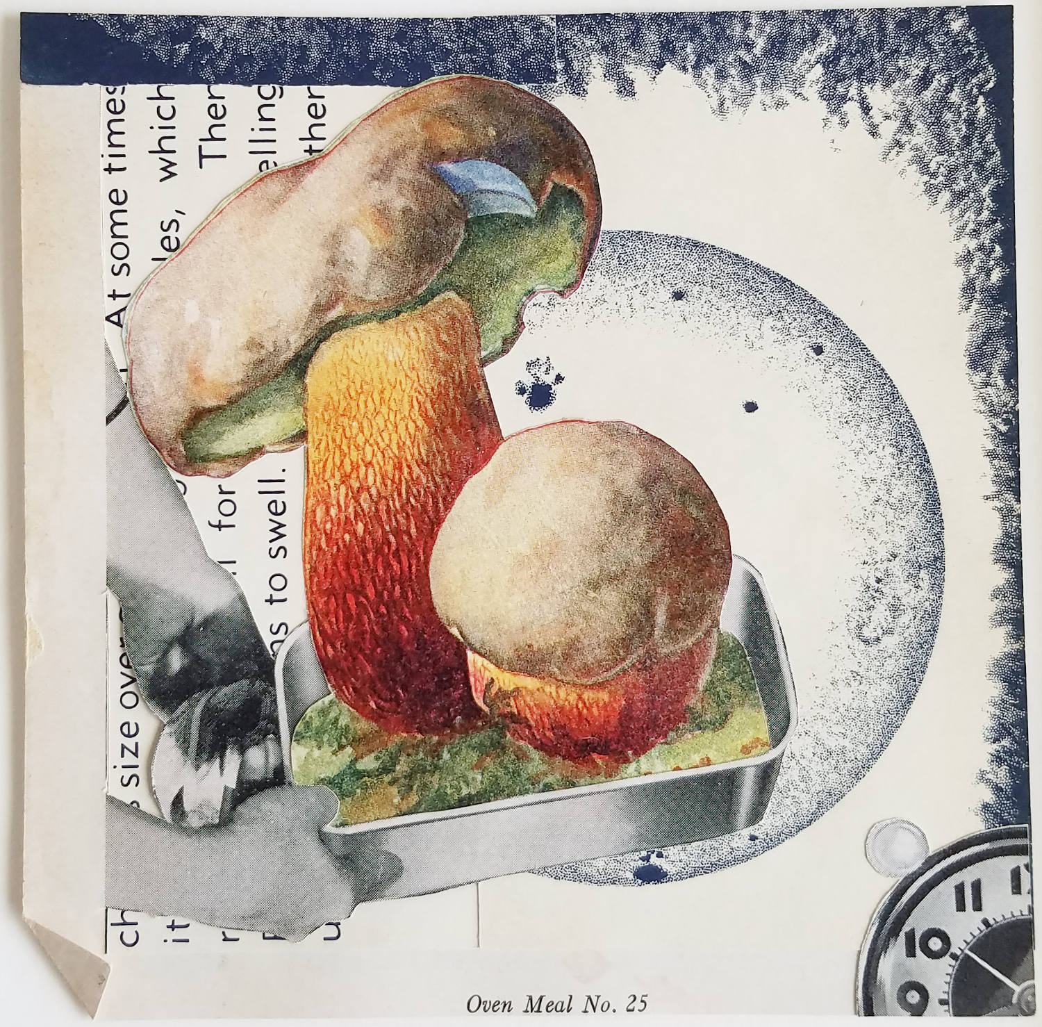 """Oven Meal No. 25  2016 Collage 5"""" x5"""""""