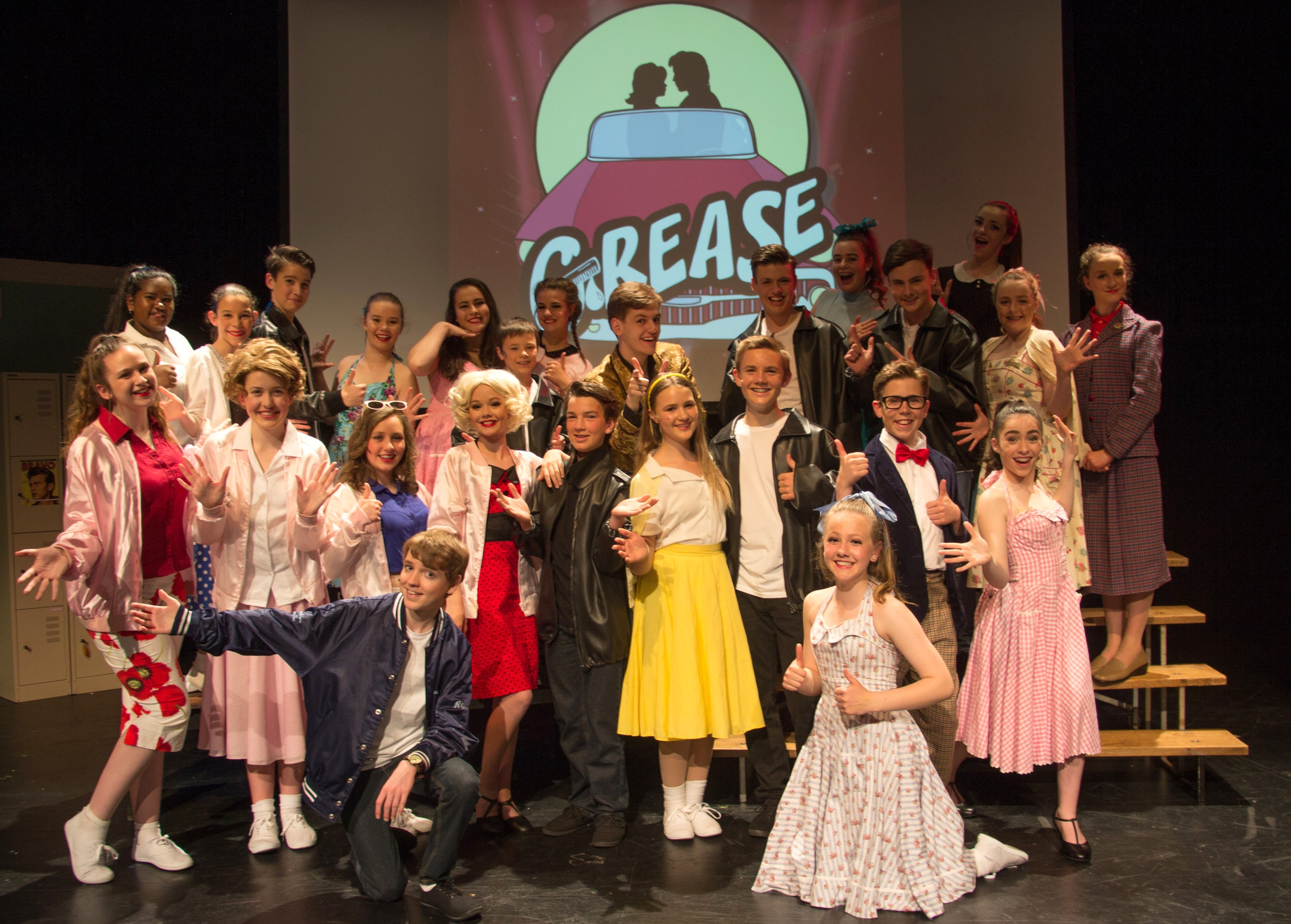 Rock'n'rolling trip back to the 50s! Intermediate Ensemble - Grease 2016