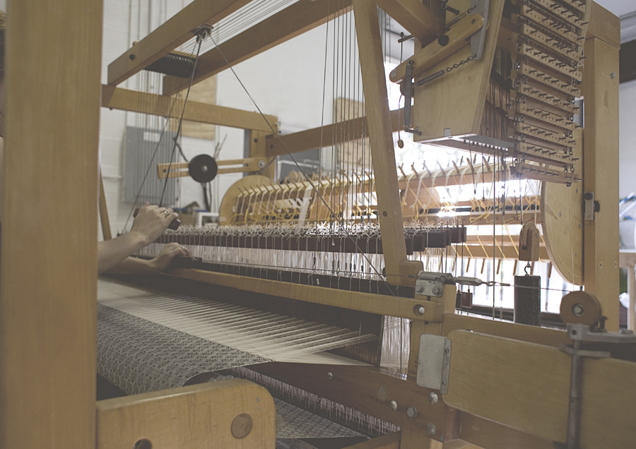 My newest AVL 16-harness mechanical dobby loom