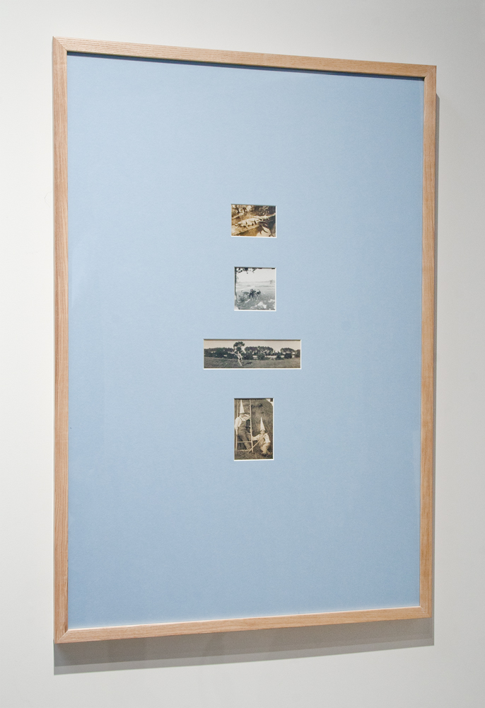 "Jul 57,  24"" x 36,"" found objects, 2014. (available)"
