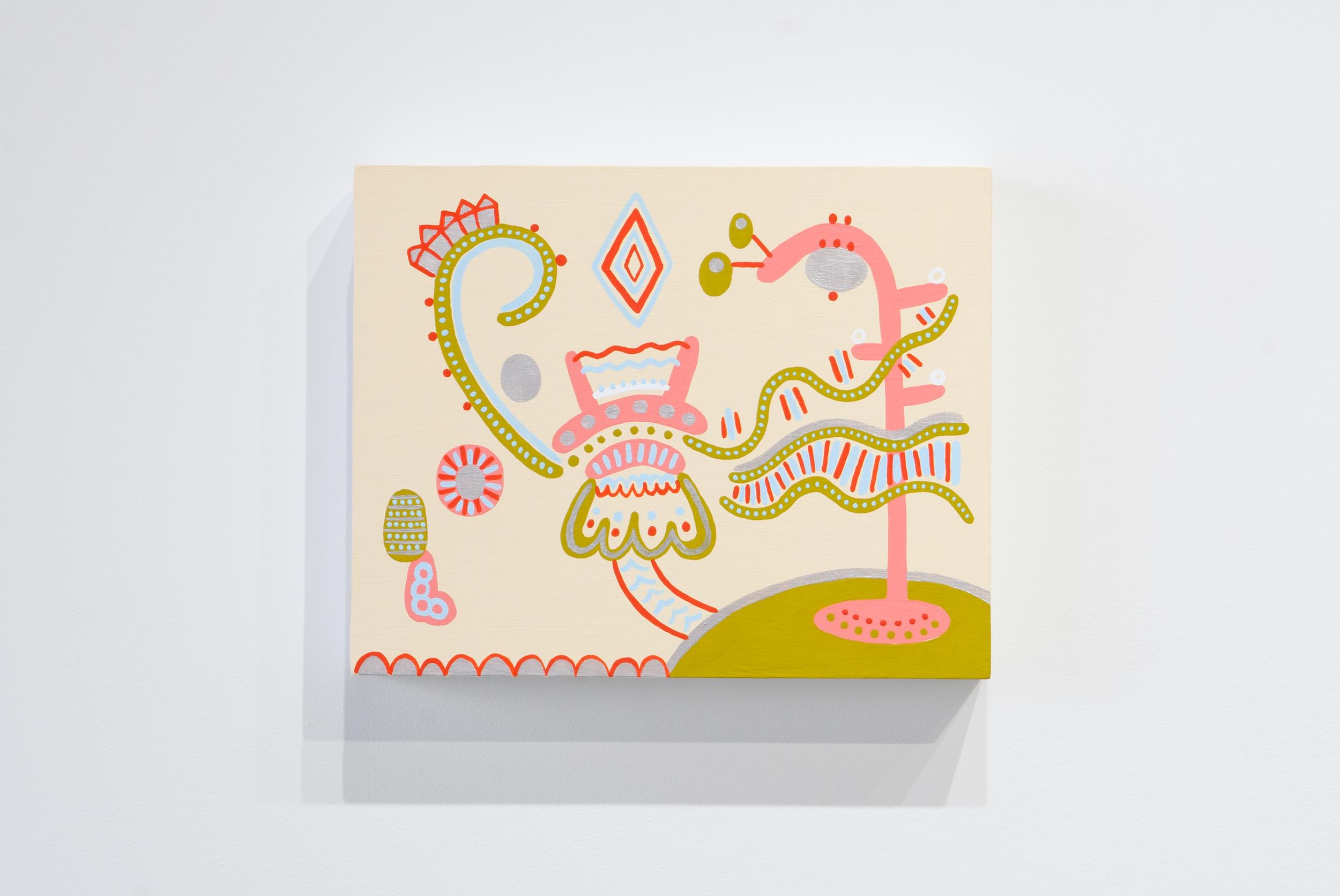 Magician , 2014,acryla-gouache on panel,20 x 25 cm (8 x 10 in)