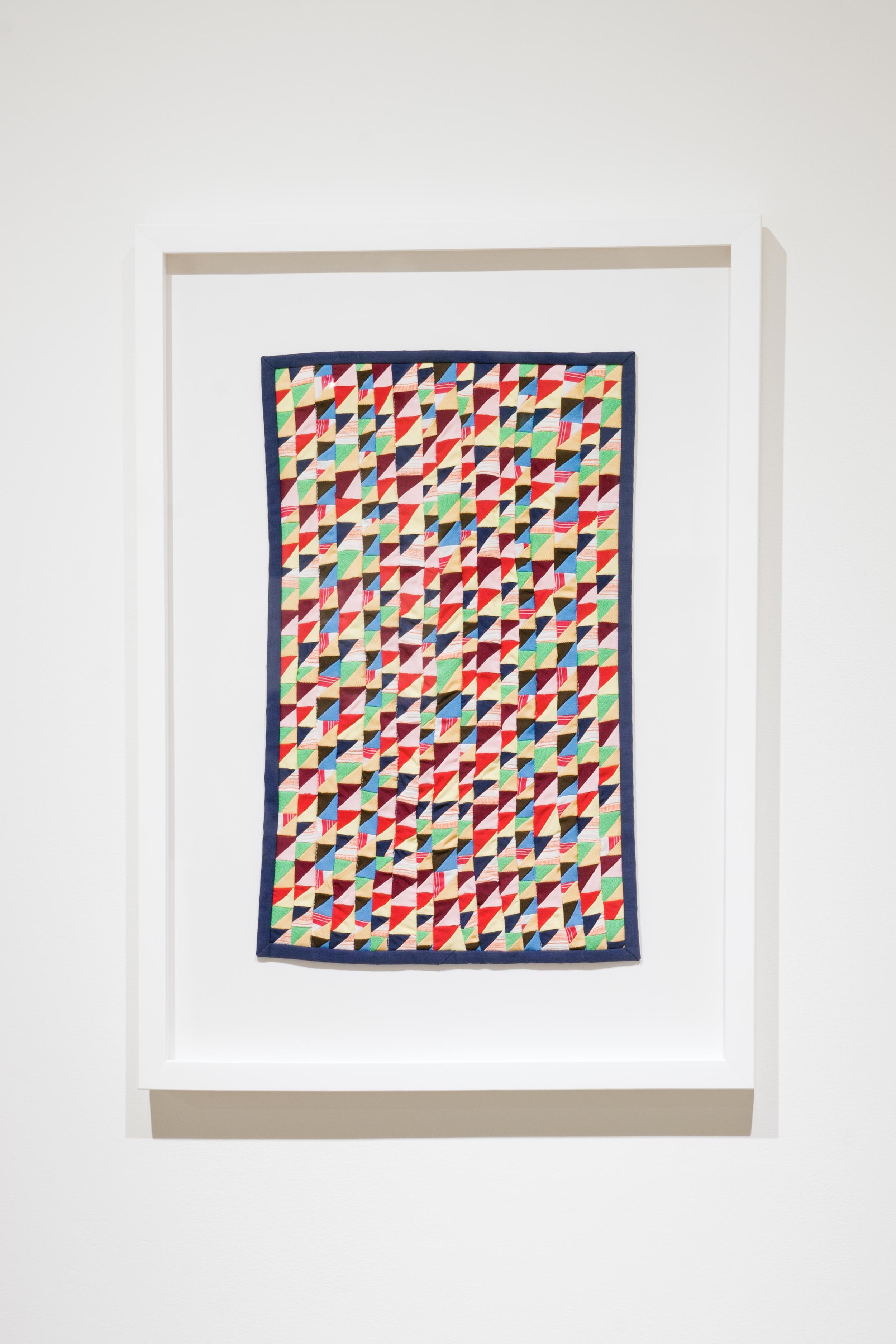 Offcuts , 2015,mixed fabrics,46 x 29 cm (18 x 11 in)
