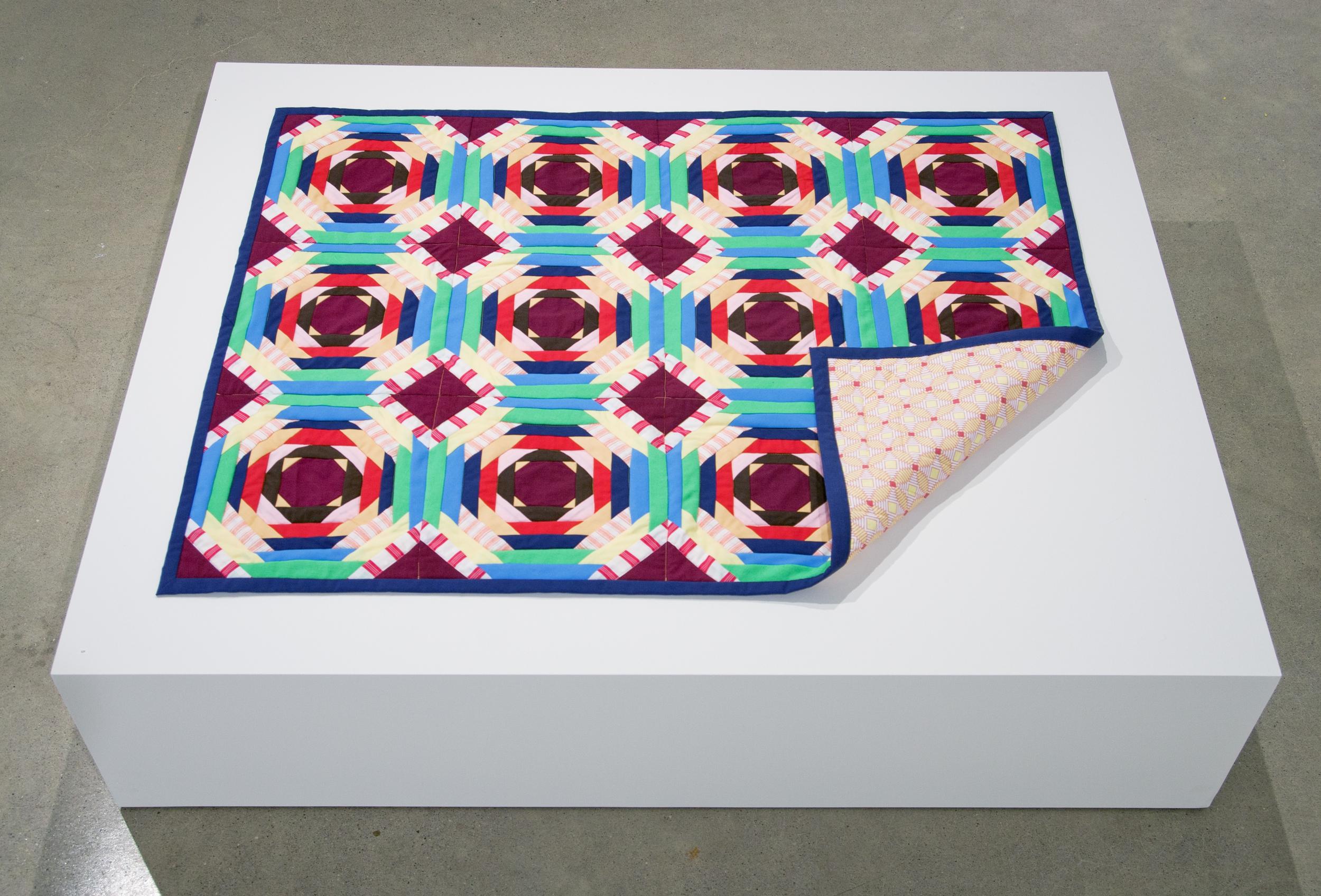 Quilt , 2014,mixed fabrics,114 x 87 cm (45 x 34.5 in)