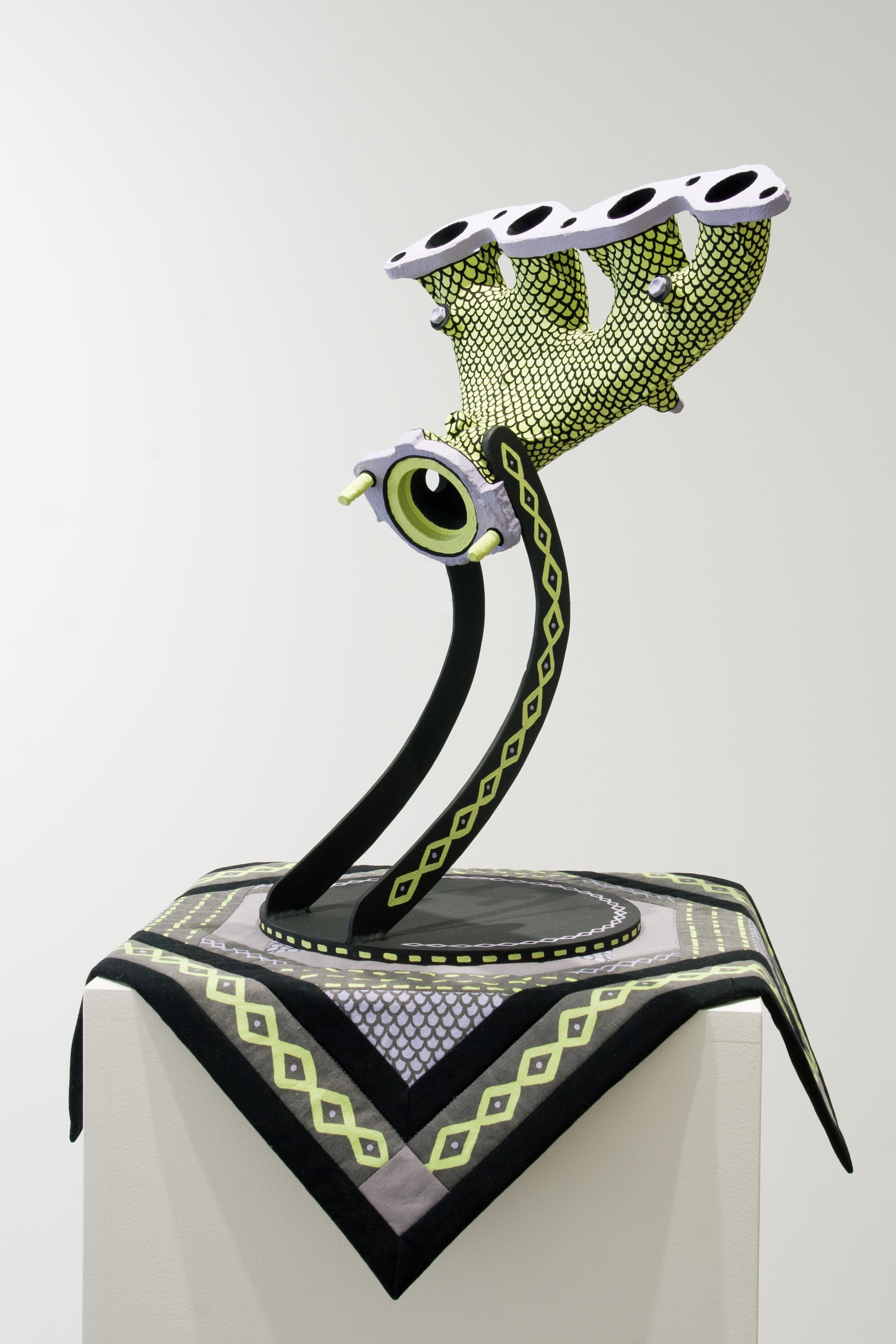 Manifold / Medusa , 2015,mixed media,62 x 49 x 49 cm (24 x 19 x 19 in)