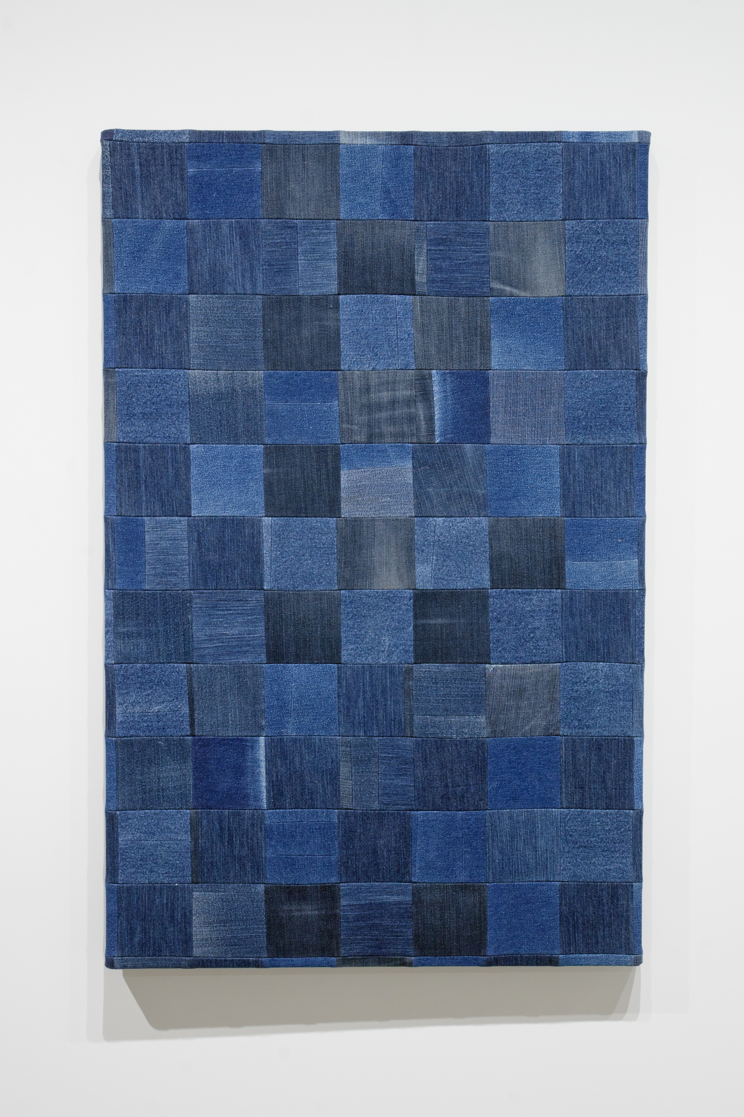 Jeans (Dark) , 2015,mixed fabrics,88 x 75 cm (34.5 x 29.5 in)
