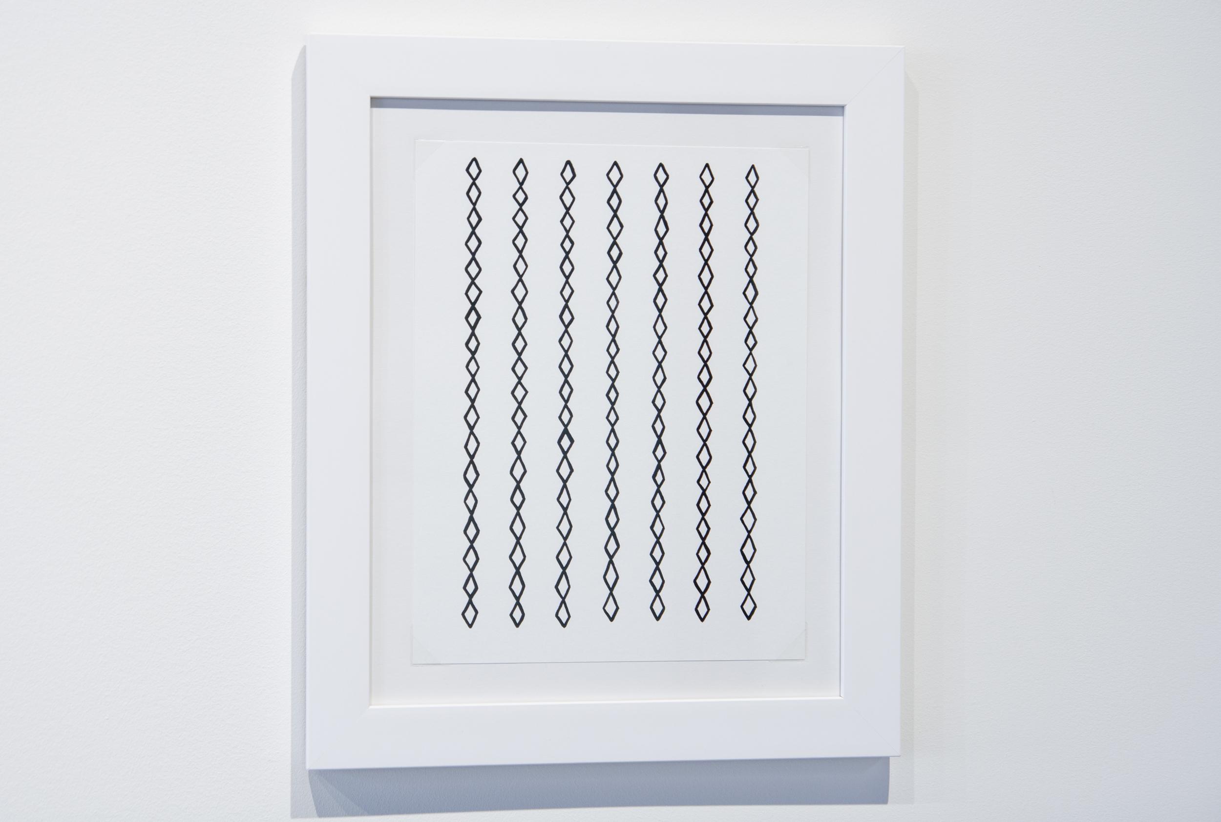 Small Diamonds,  2015,acryla-gouache on paper,28 x 21.5 cm (11 x 8.5 in)