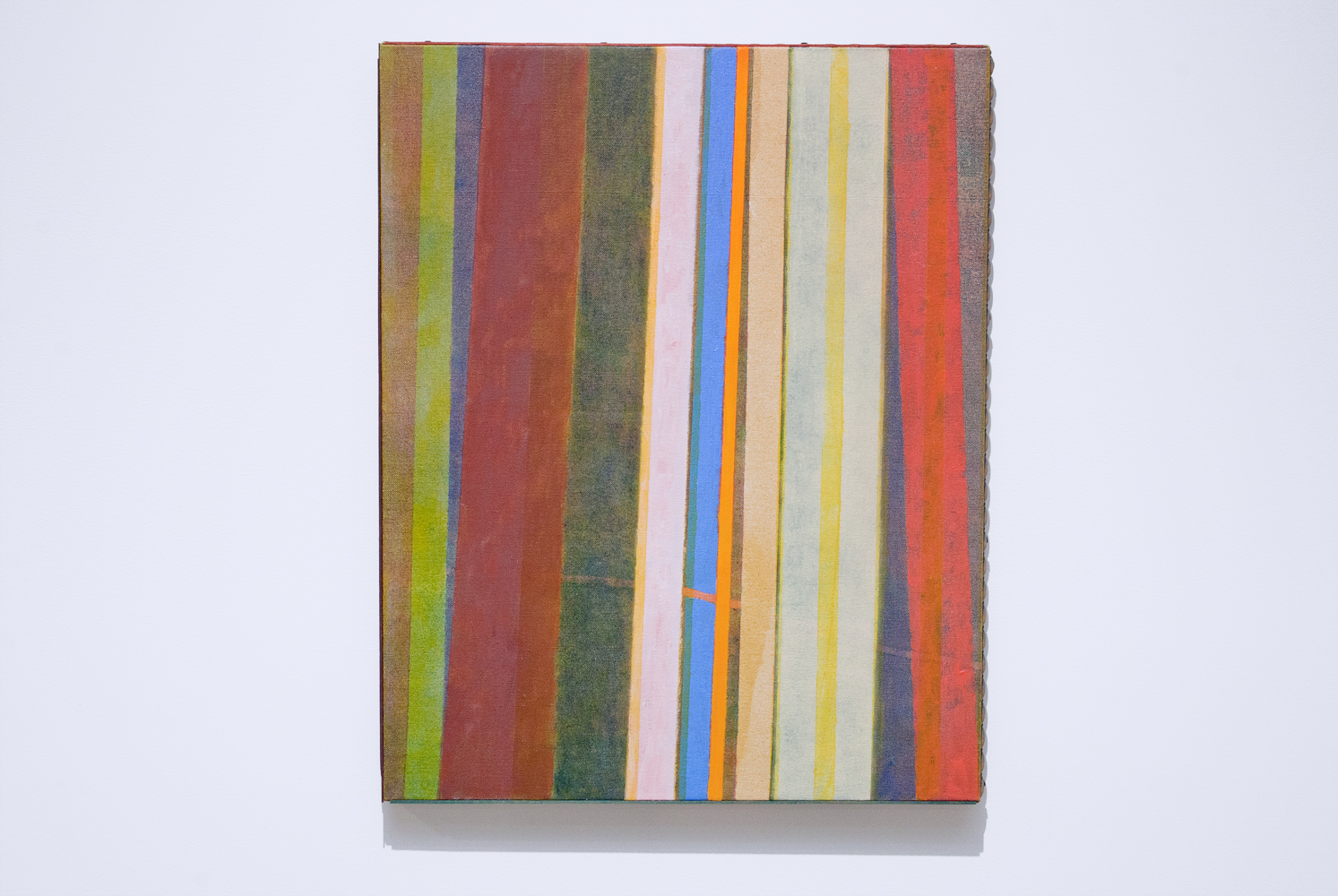 permitted assets , 2015.Oil and distemper on canvas, stain and paint on wood,20 ½ x 16 ½ inches.Book: Focillon, Henri.  The Life Forms in Art
