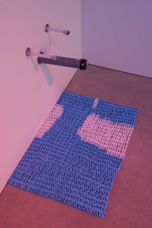 Storm Warming  , 2014. Marine foam, polystyrene, tempered glass, heat lamp, tarp