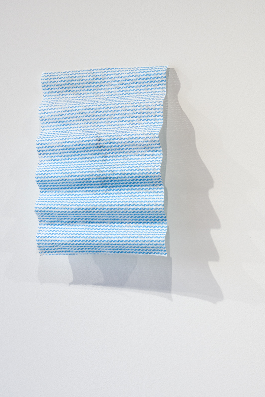 Slow Wiped   , 2014.J-cloth, sugar water, bumper foam
