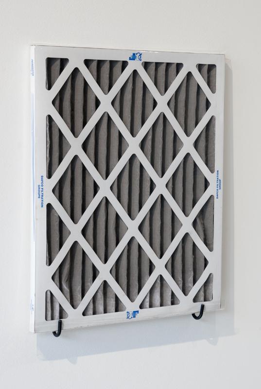 New Grey 123 Dundas  , 2014.Air conditioning filter, local air particles,cellophane bag