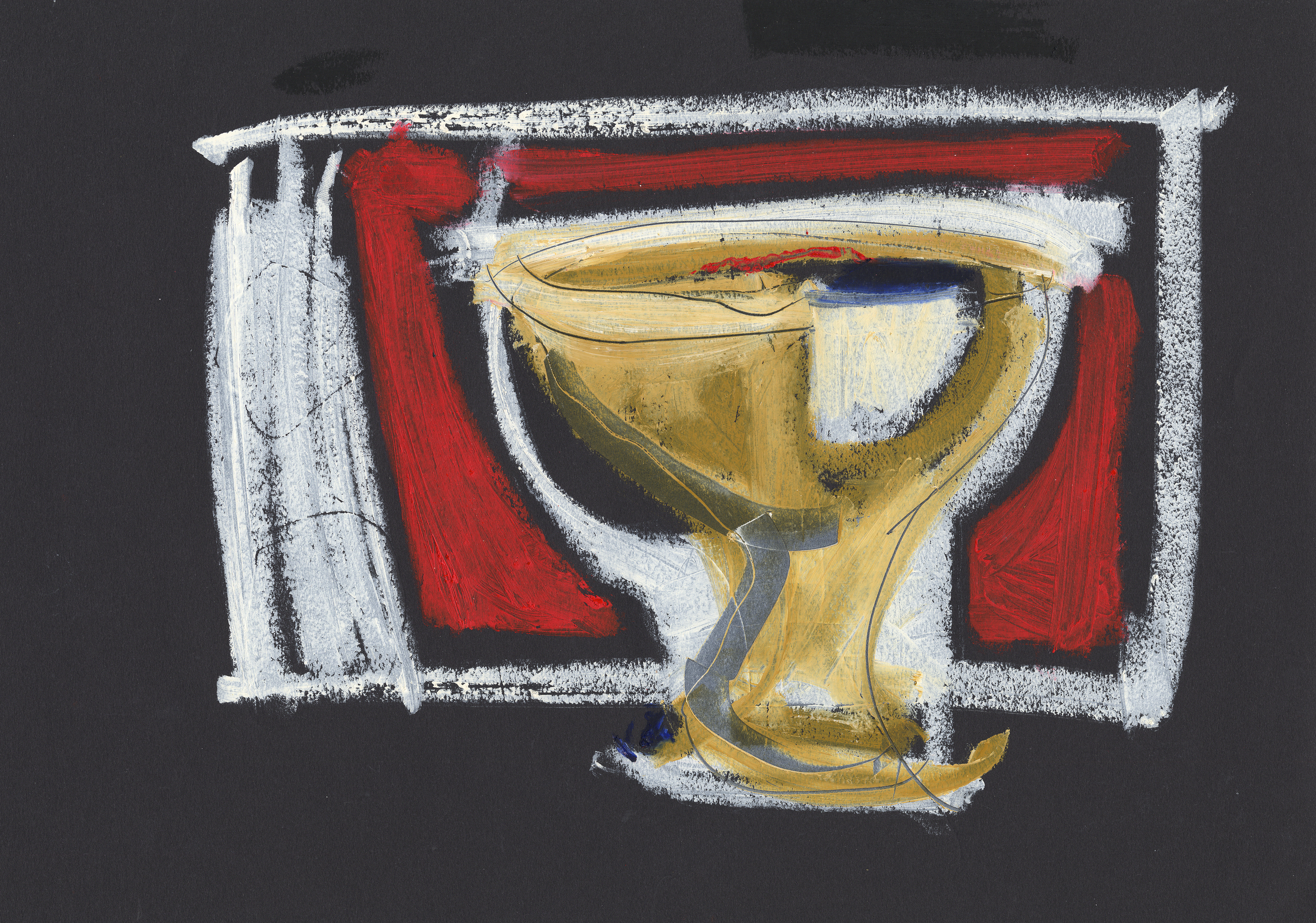 Wine and gold chalice
