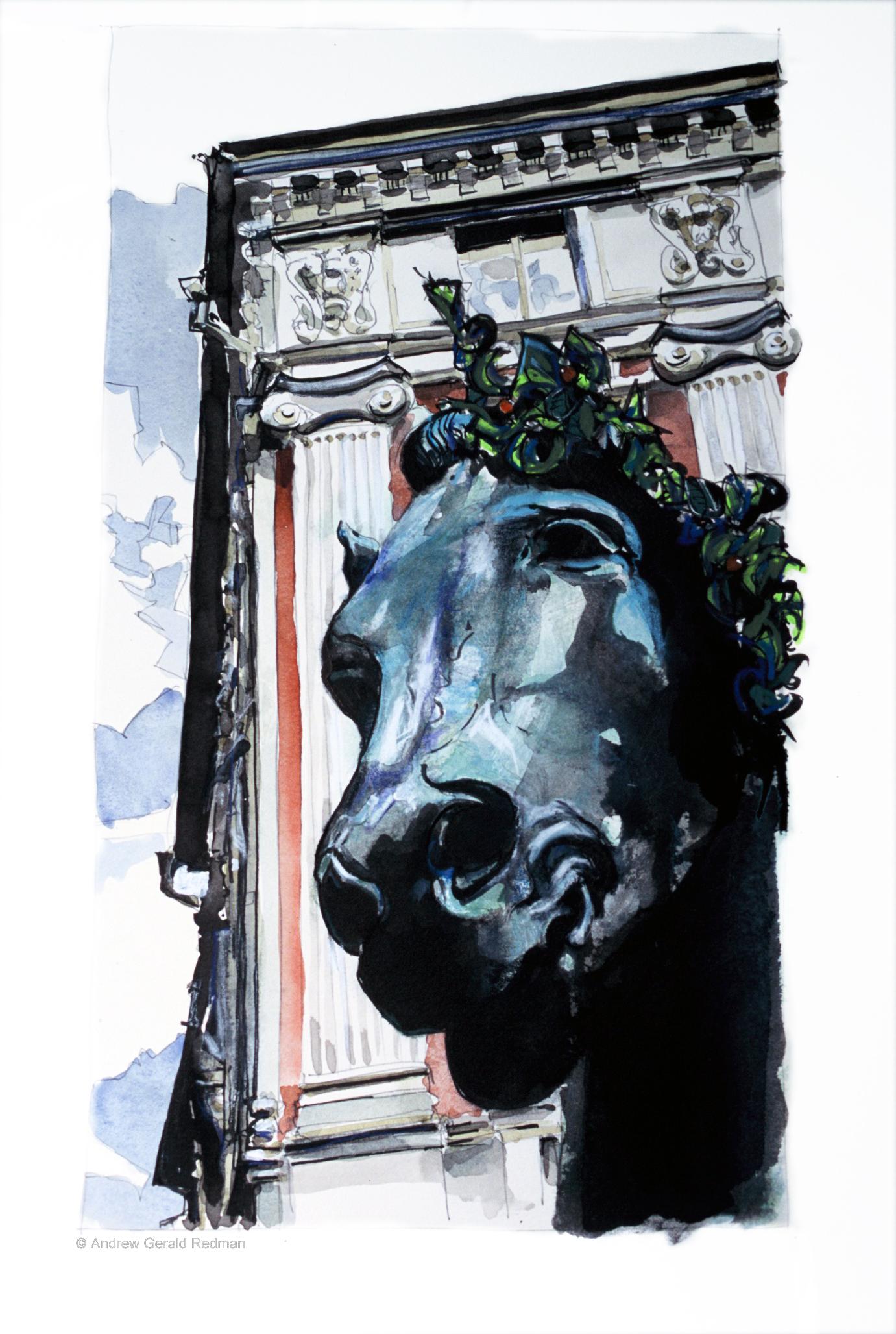 Mid-summer horse Blasieholmen Stockholm