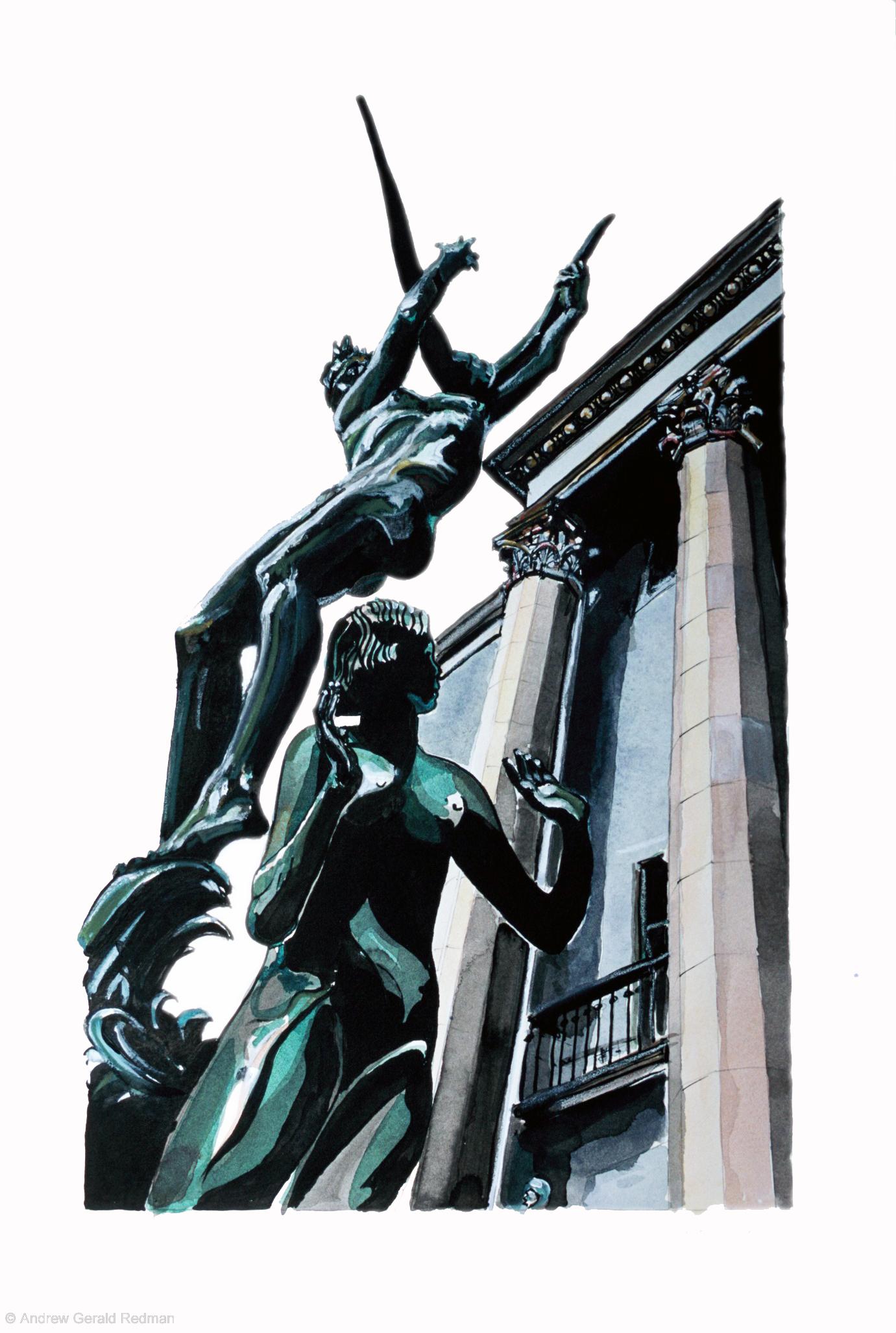 Orpheus fountain Konserthuset Stockholm